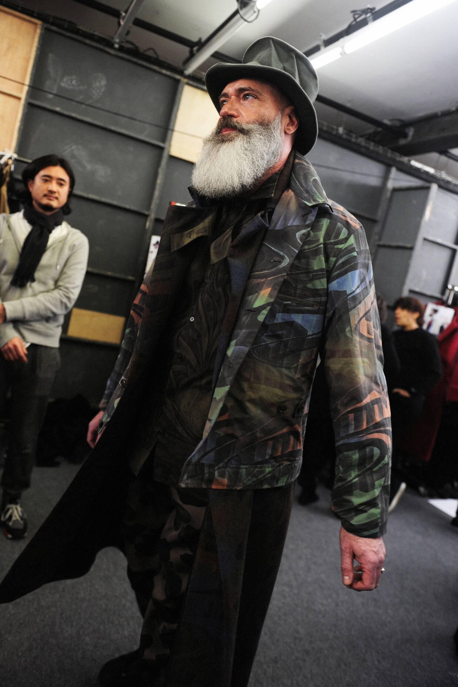 Fashion Model Yohji Yamamoto Backstage