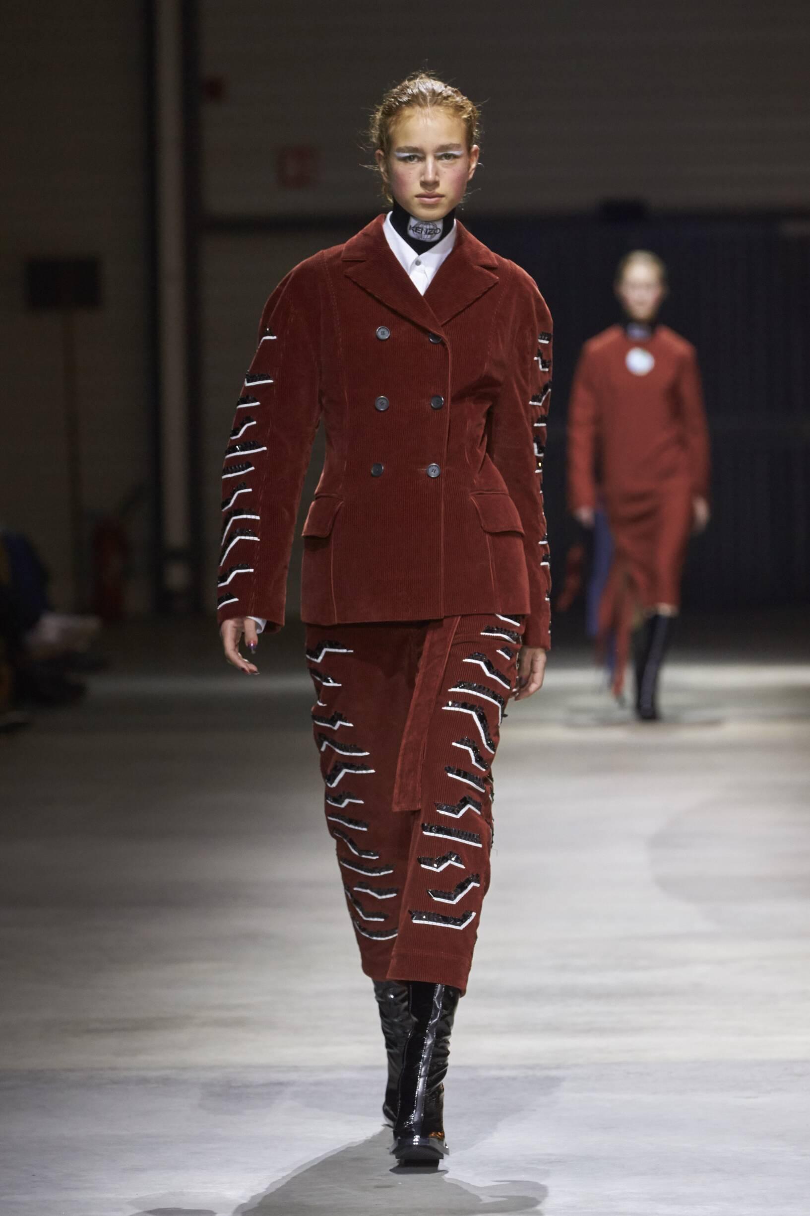 Fashion Woman Model Kenzo Catwalk 17-18