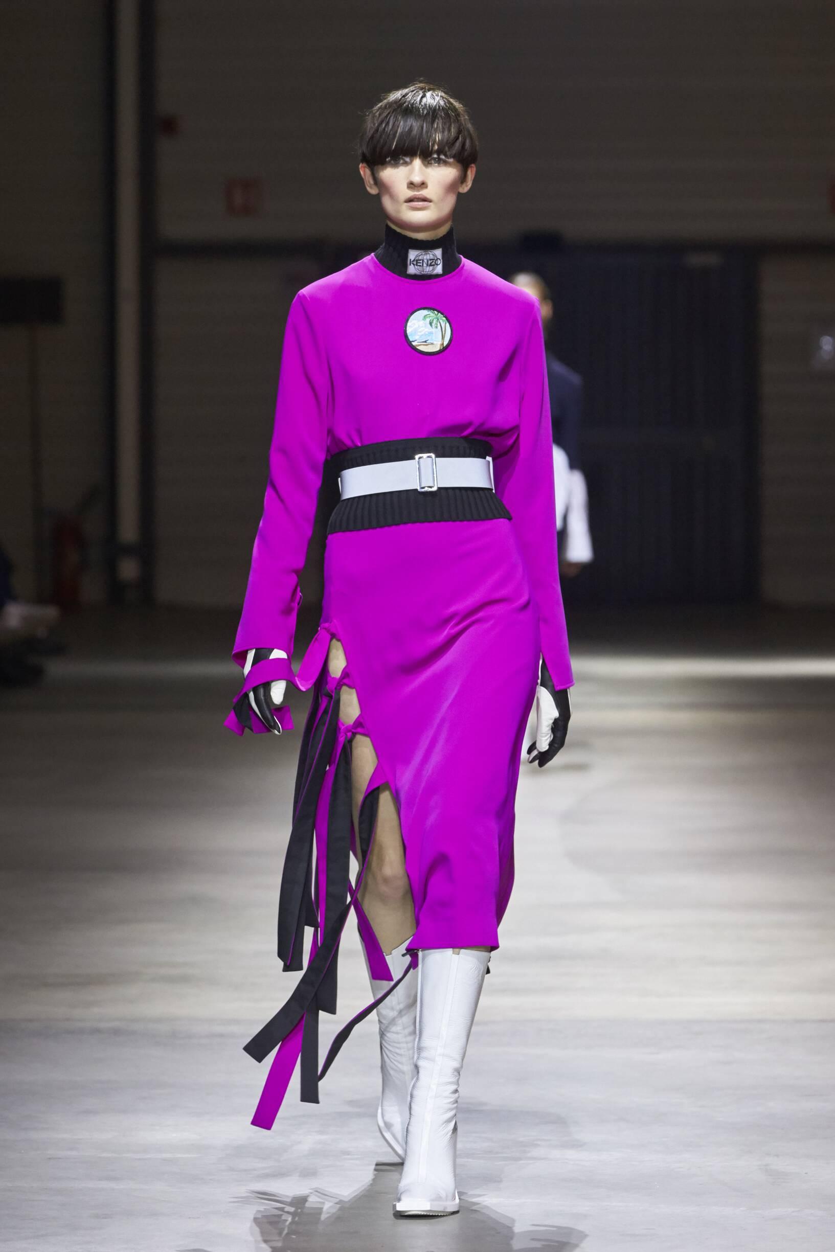 Fashion Woman Model Kenzo Catwalk