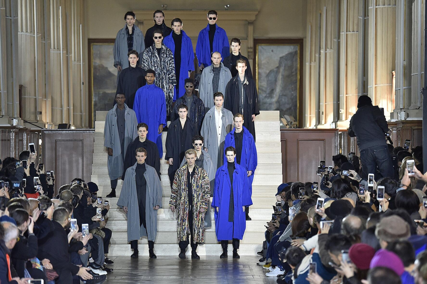 Issey Miyake Fashion Show Finale