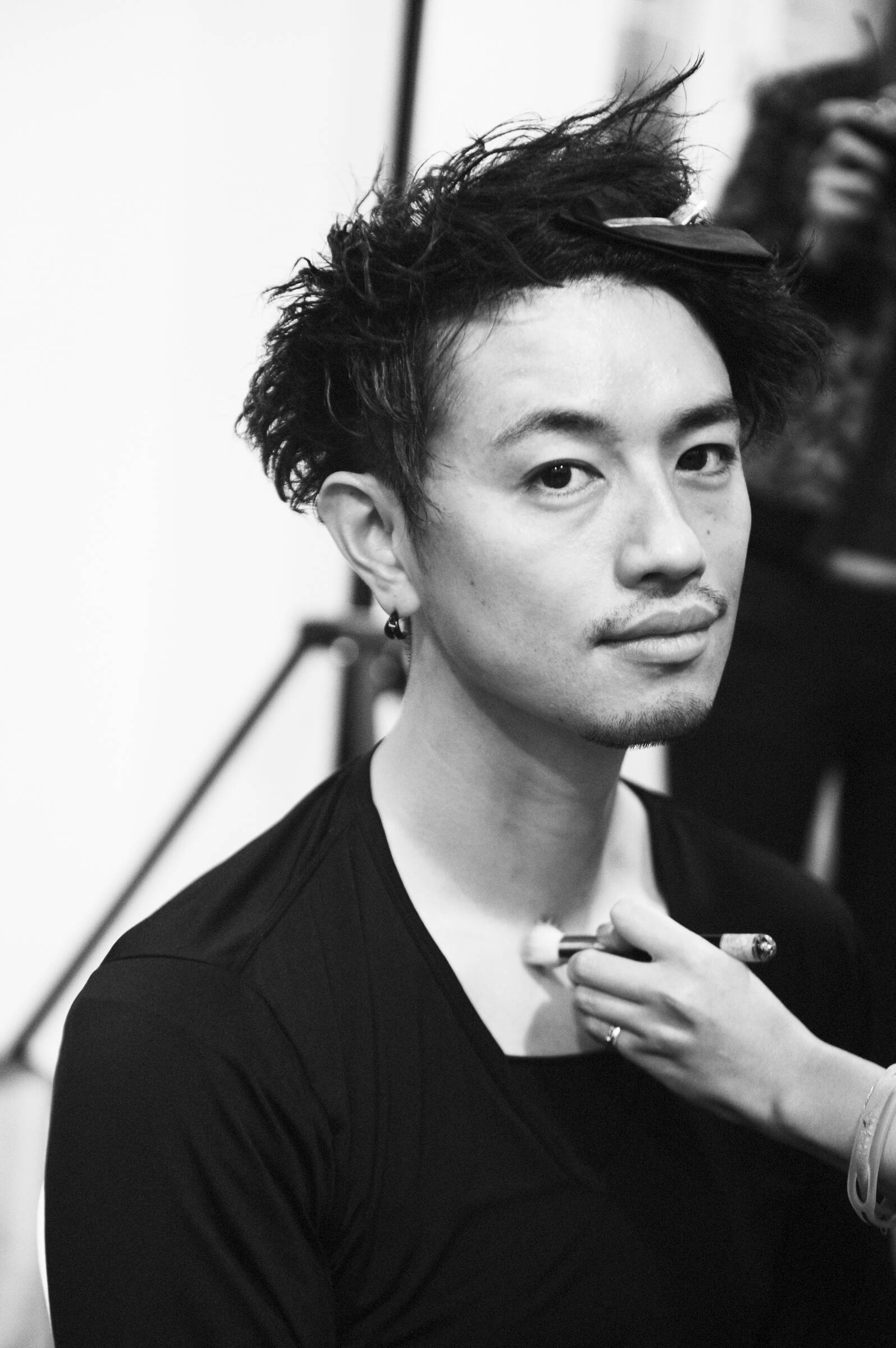 Make Up Model Yohji Yamamoto Backstage