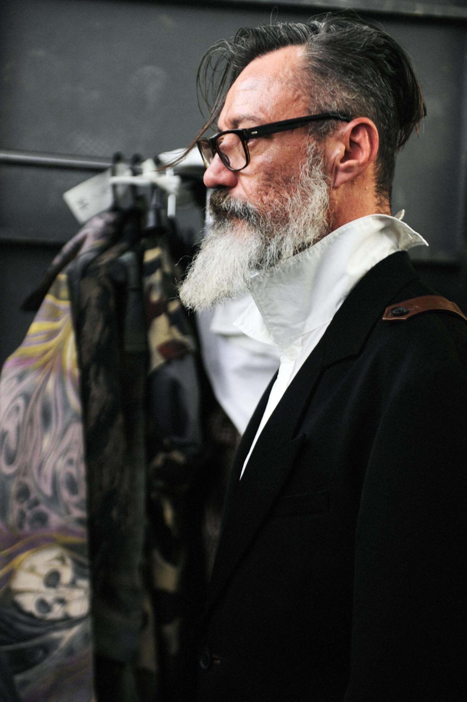 Man Model Yohji Yamamoto Backstage