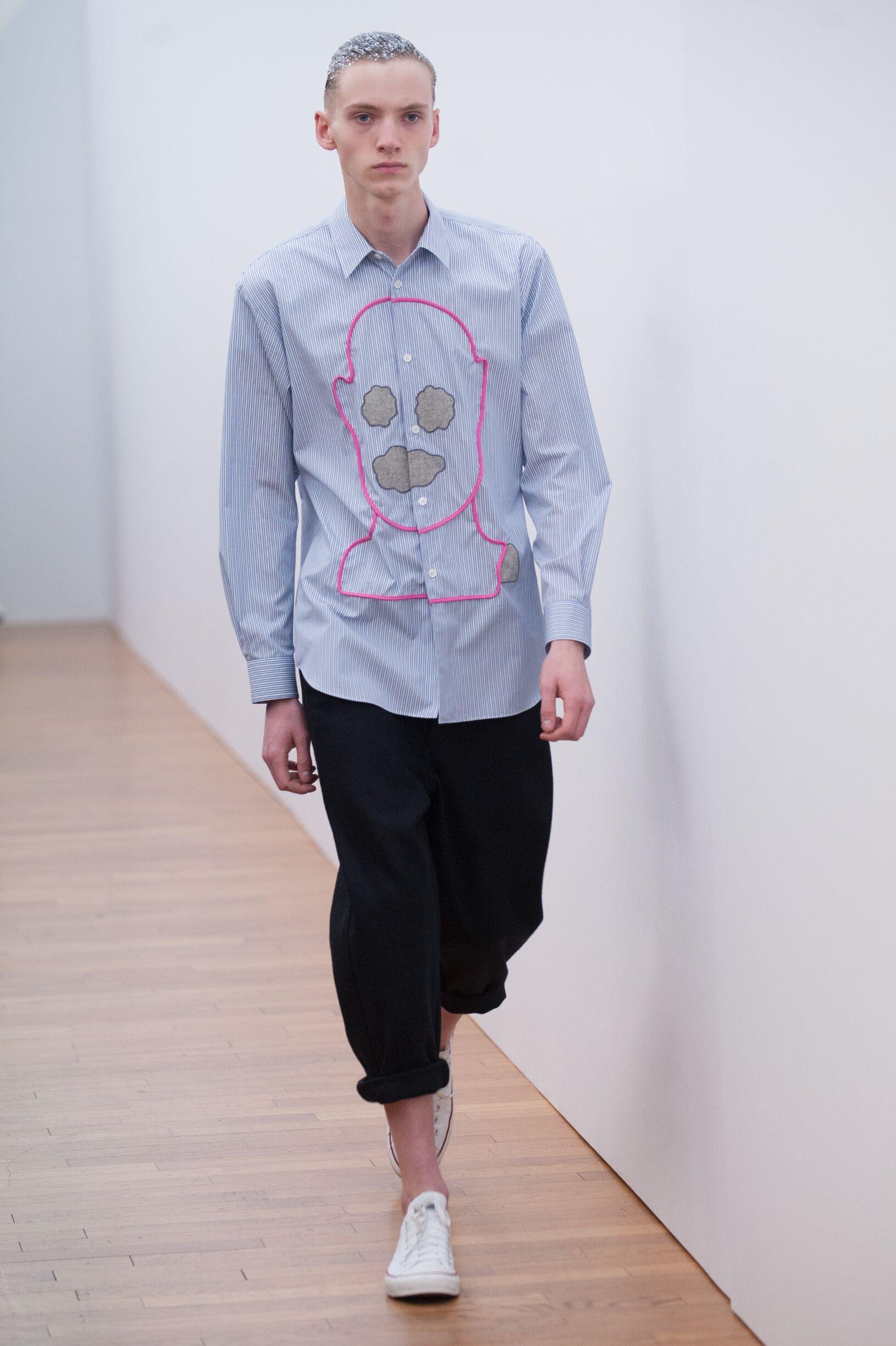 Model Fashion Show Comme Des Garçons Shirt