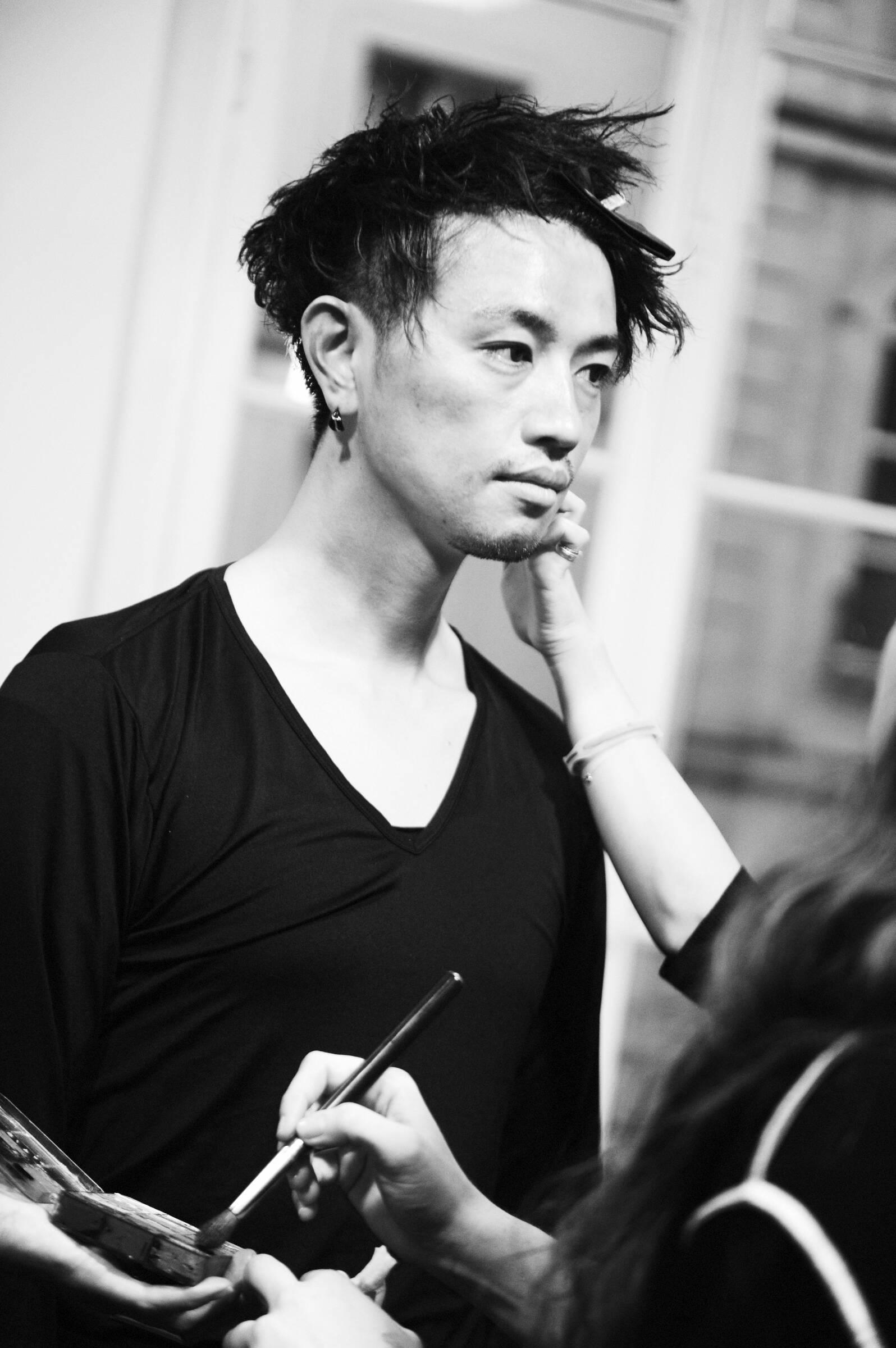 Model Make Up Backstage Yohji Yamamoto Fashion Show 2017-18