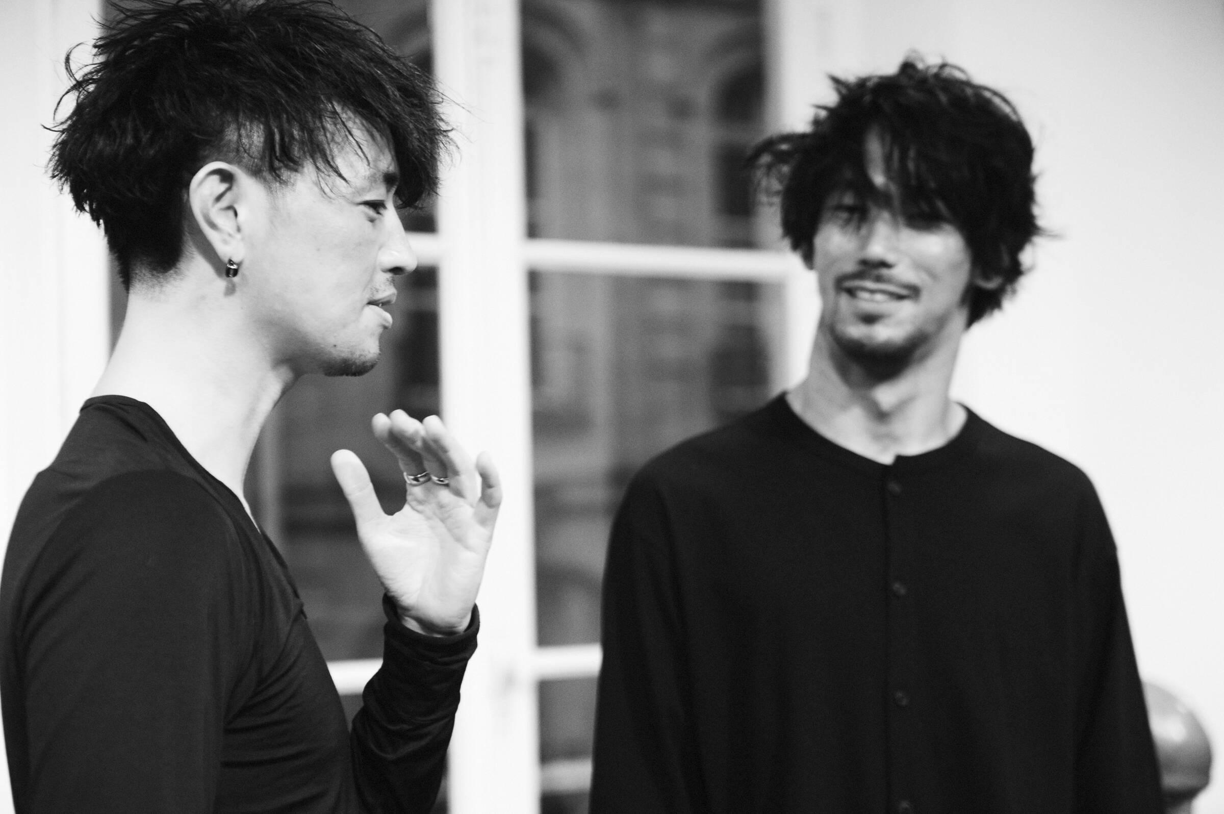 Models Yohji Yamamoto Backstage Paris Fall Winter 2017-18