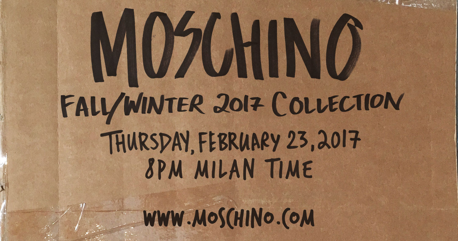 Moschino Fall Winter 2017-18 Fashion Show Live Streaming Milan