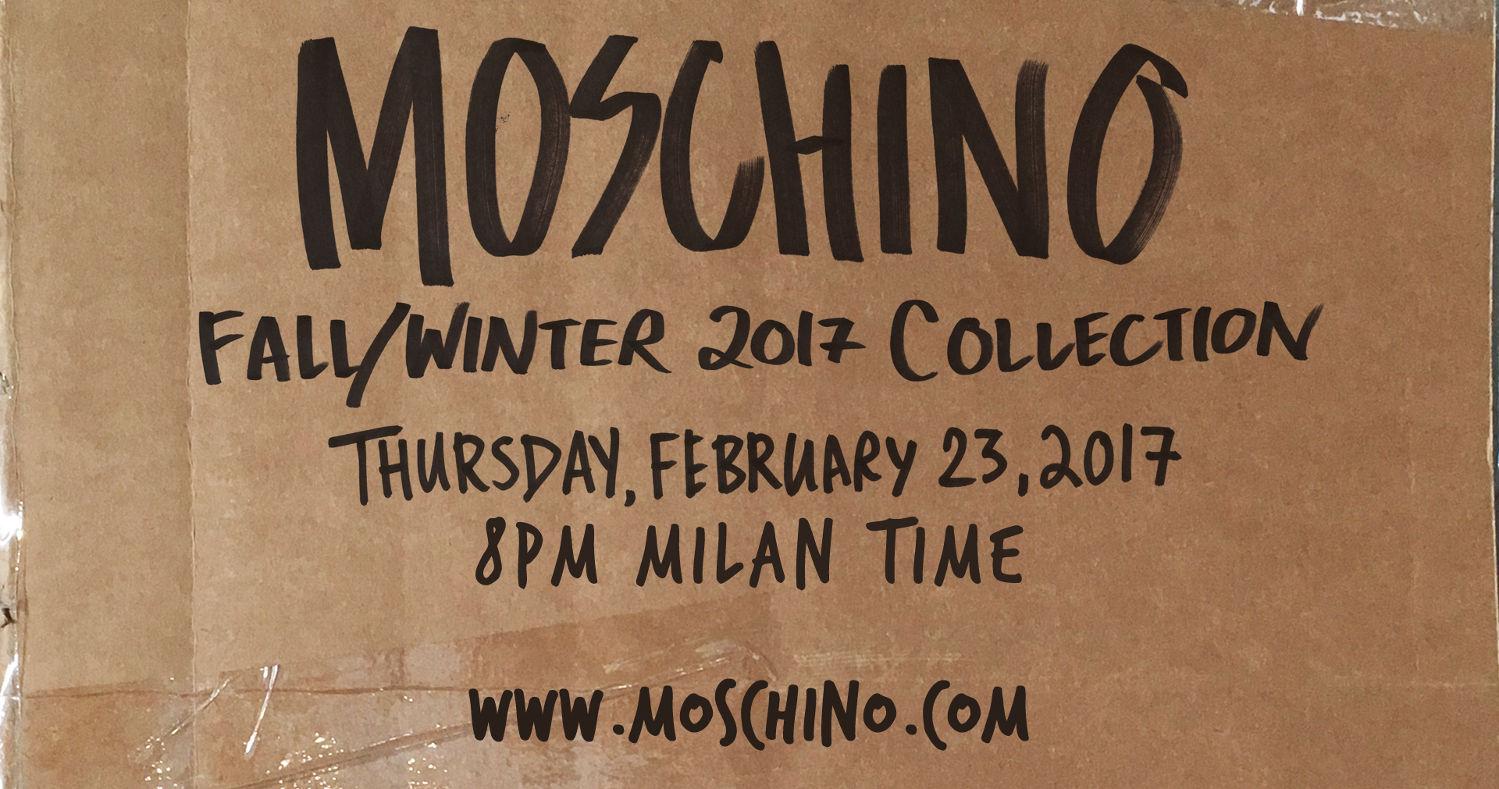 Moschino Fall Winter 2017-18 Fashion Show Live Streaming Milan