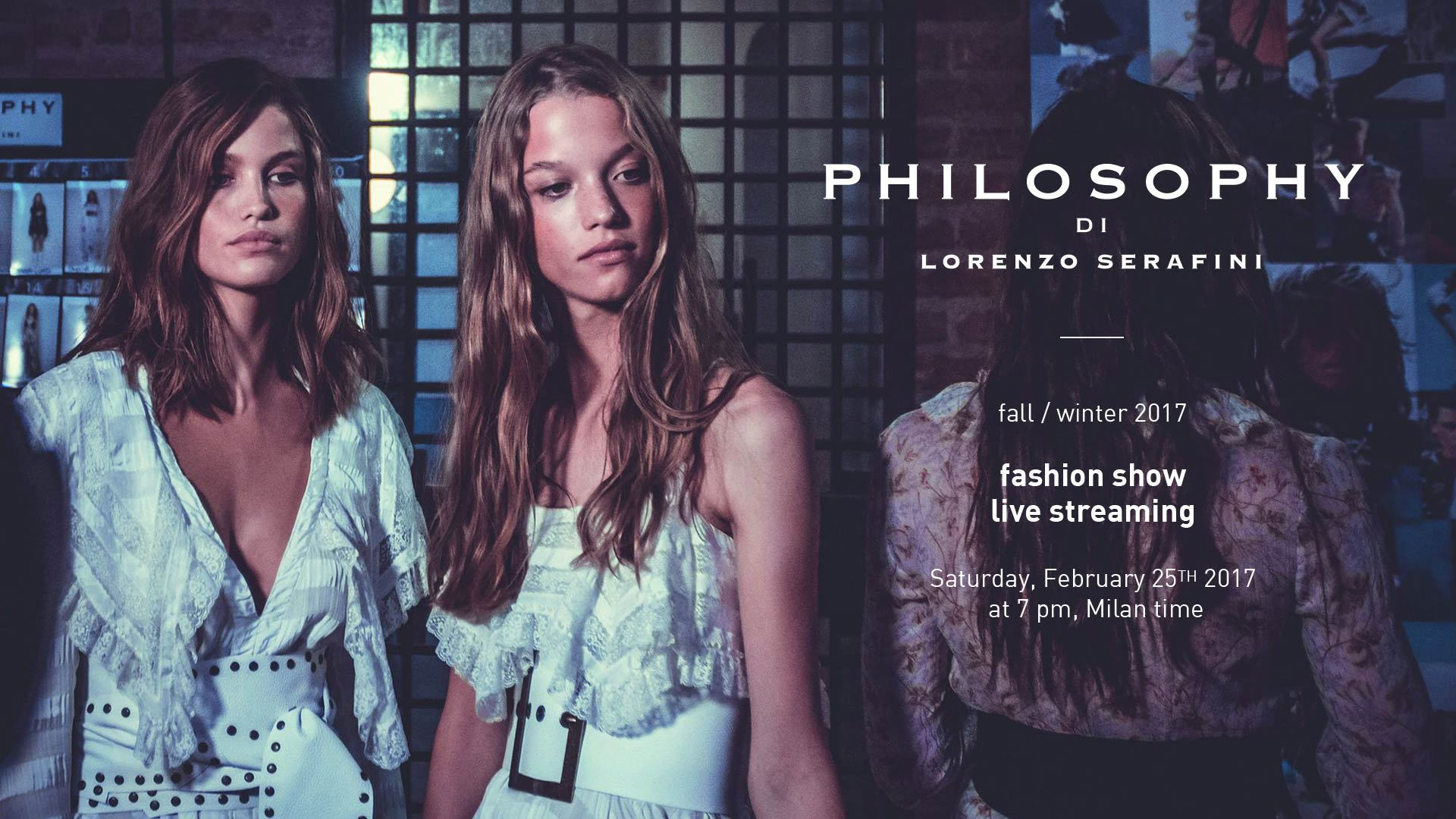 Philosophy di Lorenzo Serafini Fall Winter 2017-18 Fashion Show Live Streaming Milan
