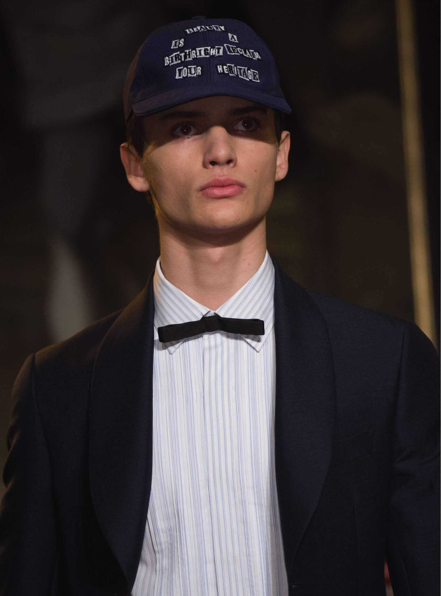 Portrait Man Model Valentino Catwalk