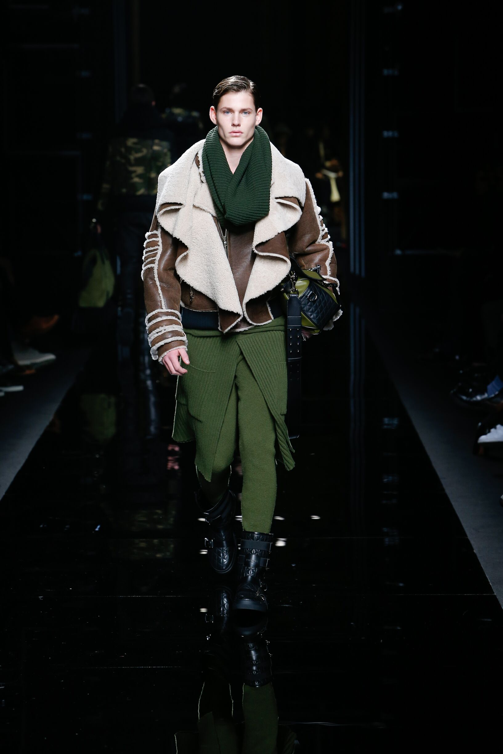 Runway Balmain Fall Winter 2017 Men's Collection Paris Fashion Week