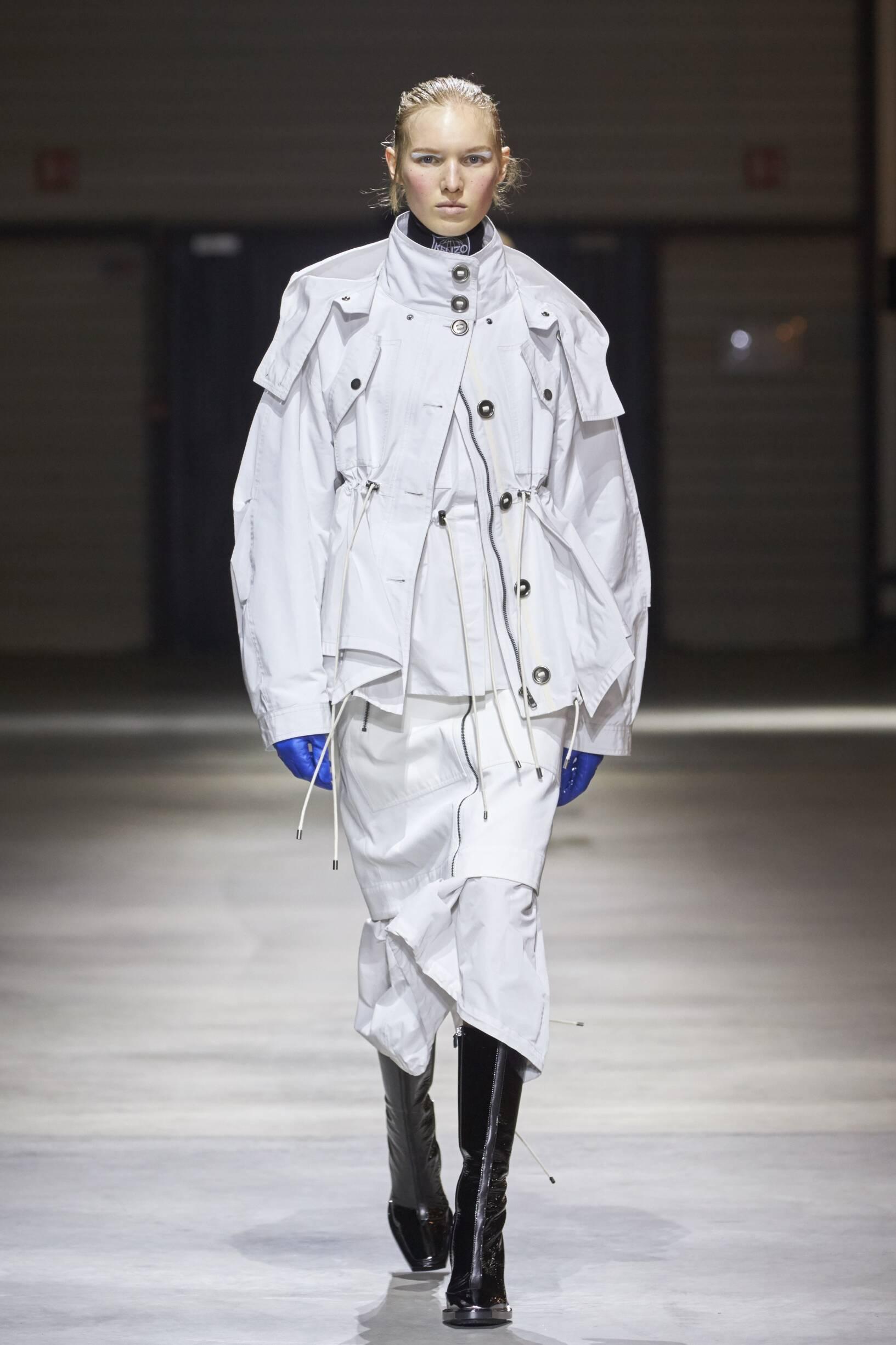 Woman Model Fashion Show Kenzo