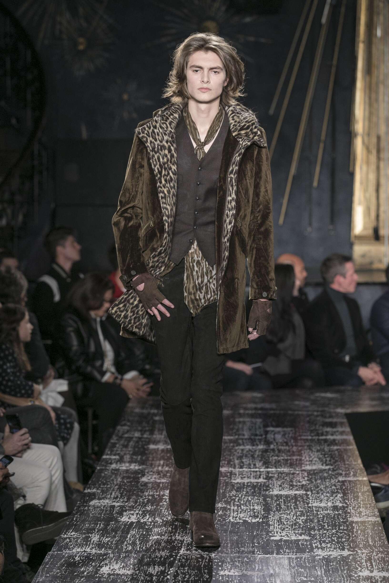2017 Catwalk John Varvatos Man Fashion Show Winter