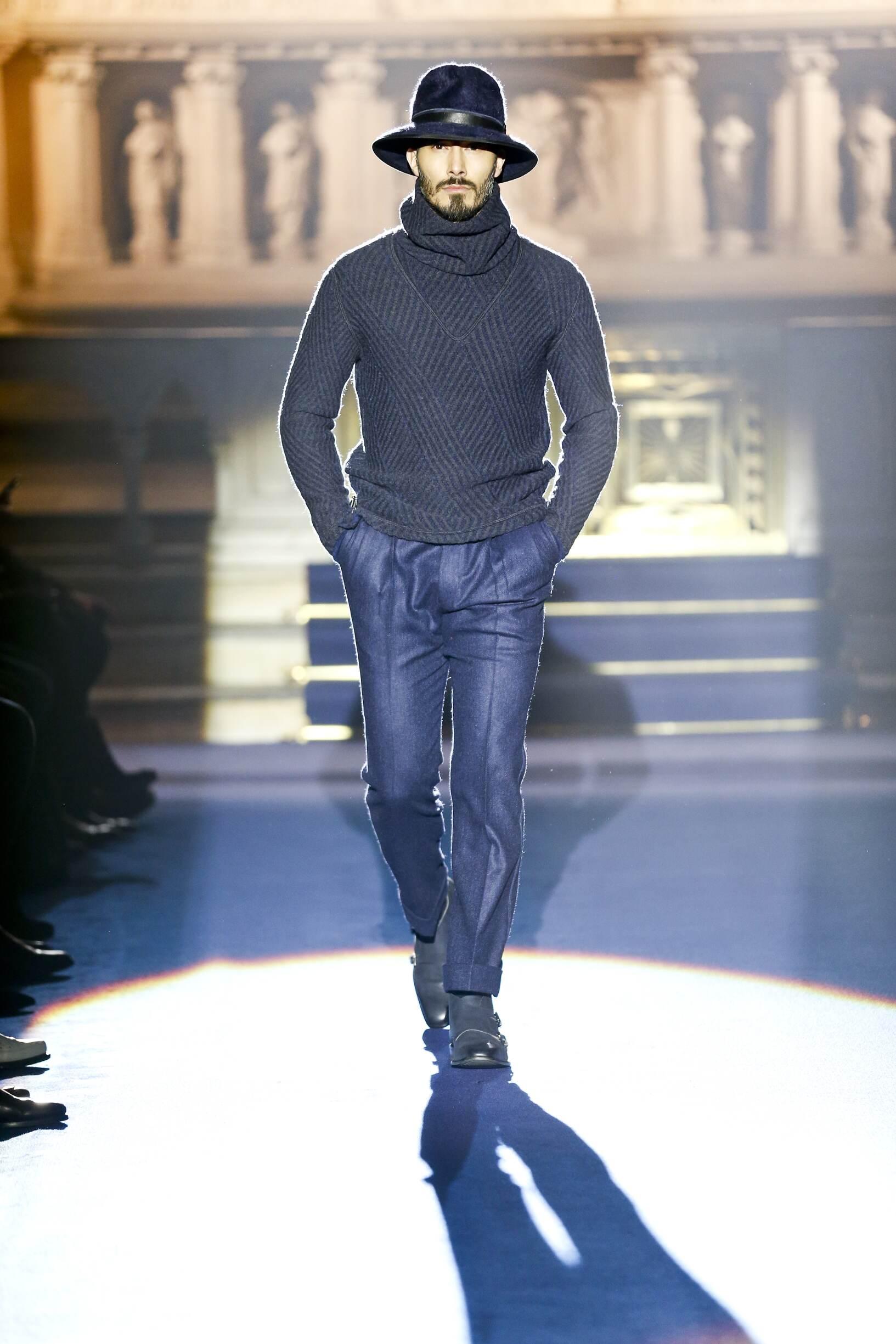 2017 Catwalk Joseph Abboud Man Fashion Show Winter