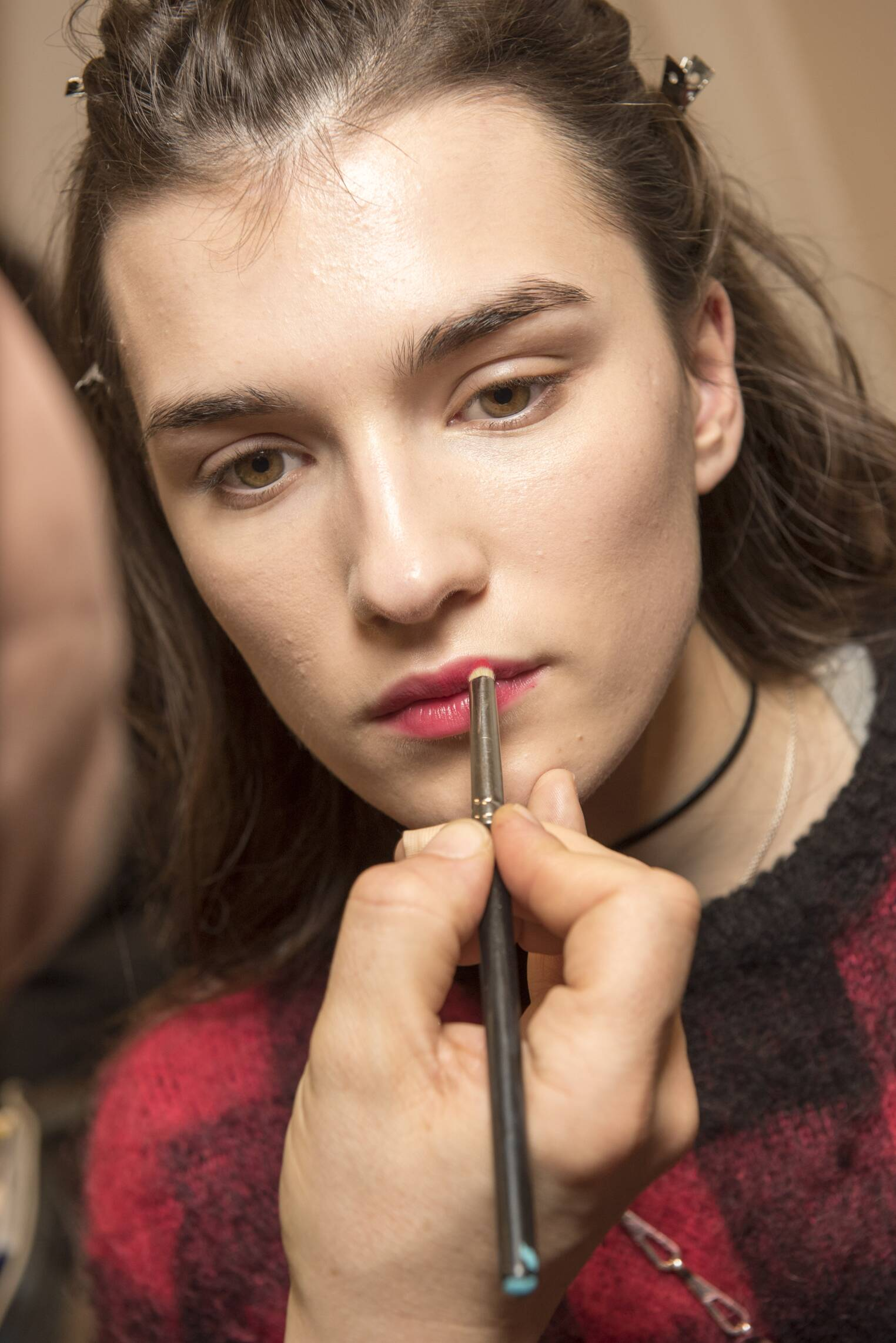 Backstage Alberta Ferretti Make Up 2017 Woman