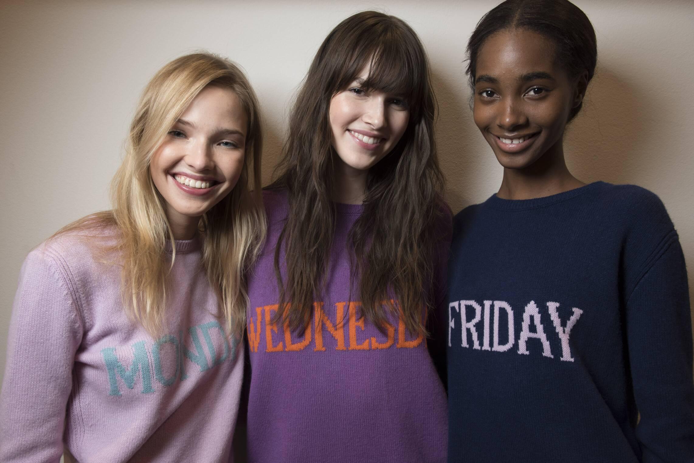 Backstage Alberta Ferretti Models Rainbow Week Collection 2017