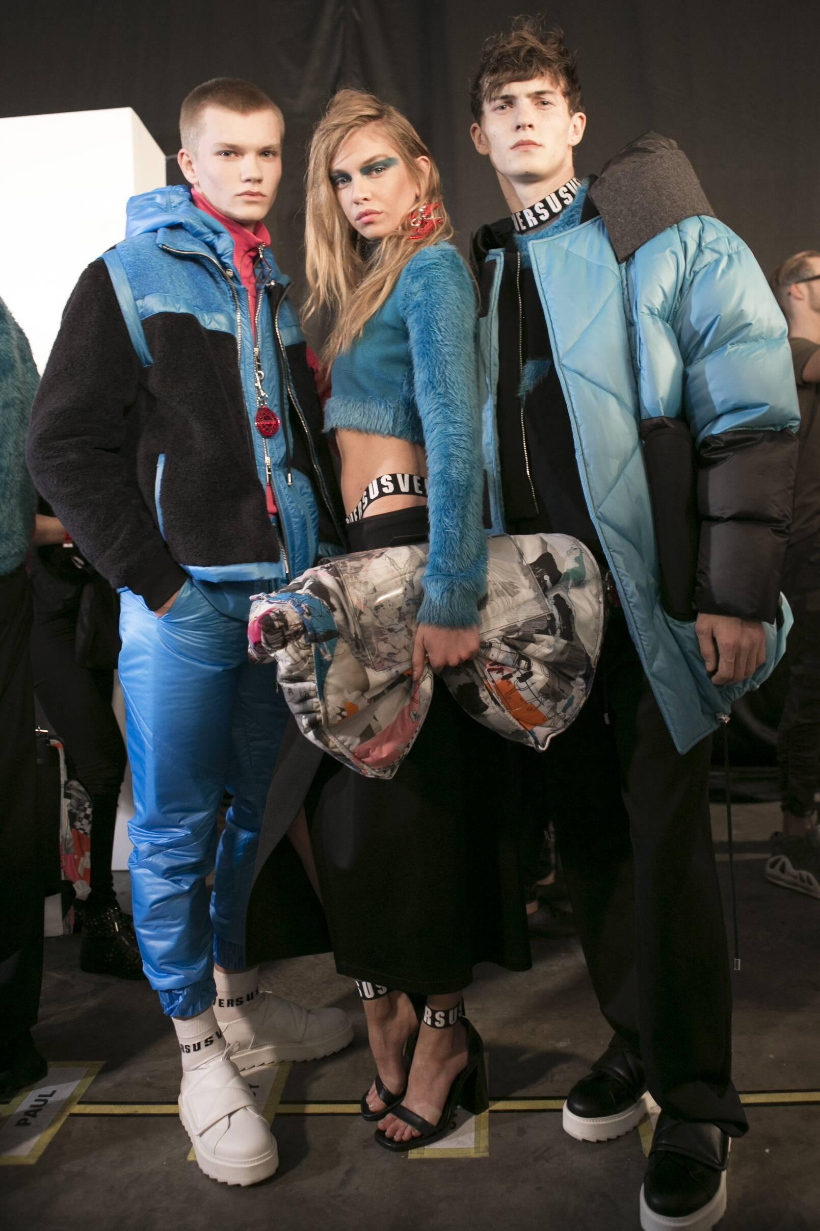Backstage Versus Versace Fashion Models