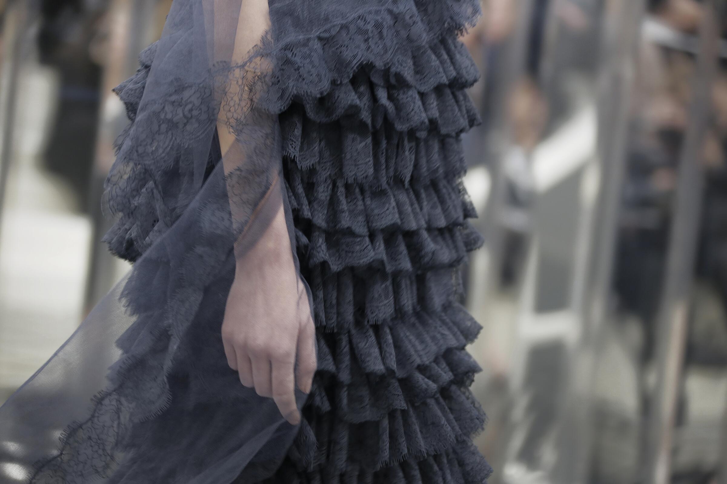 Chanel Haute Couture Dress Detail Paris Fashion Week