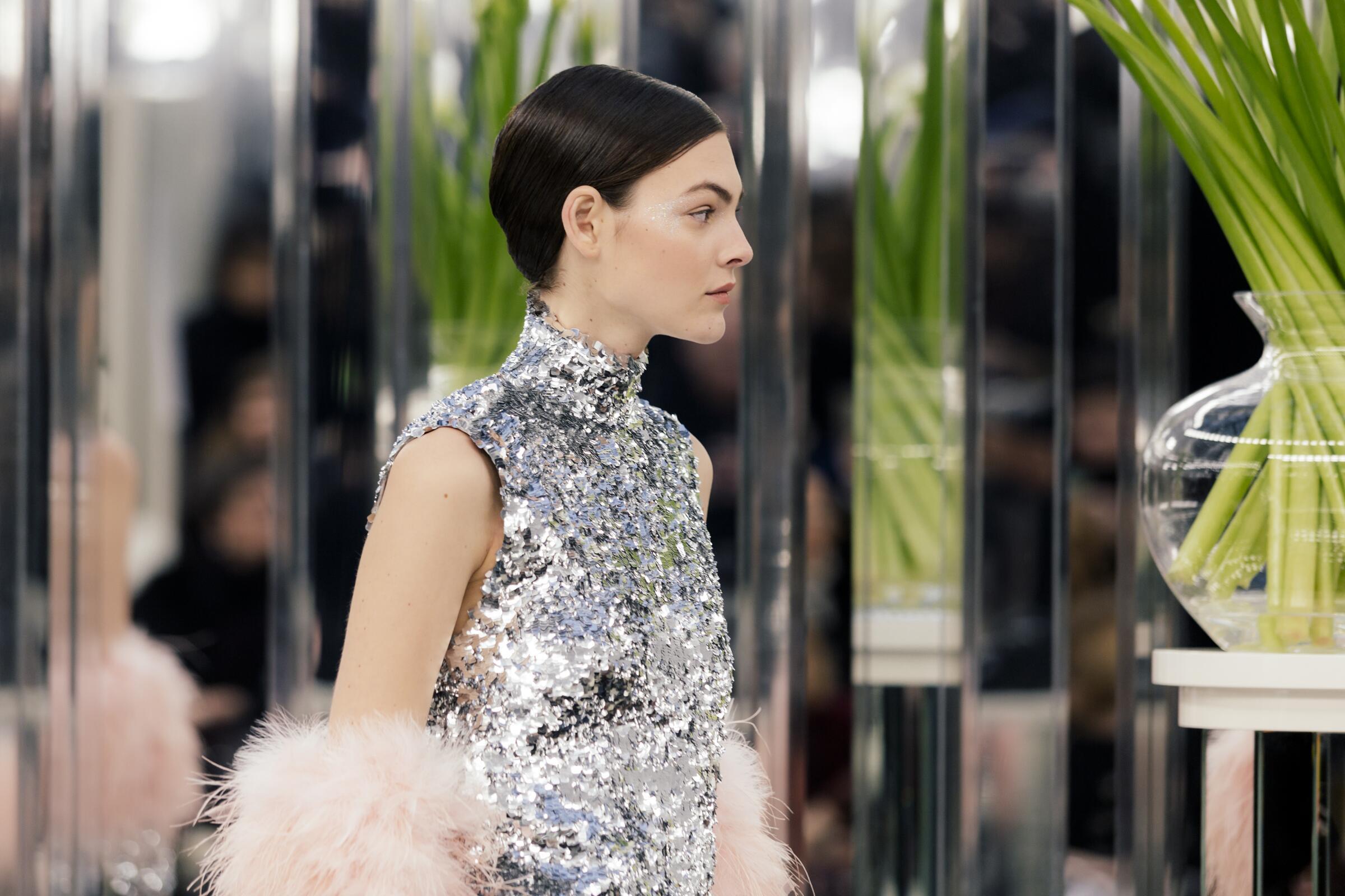 Chanel Haute Couture Model Detail Collection Paris Fashion Week