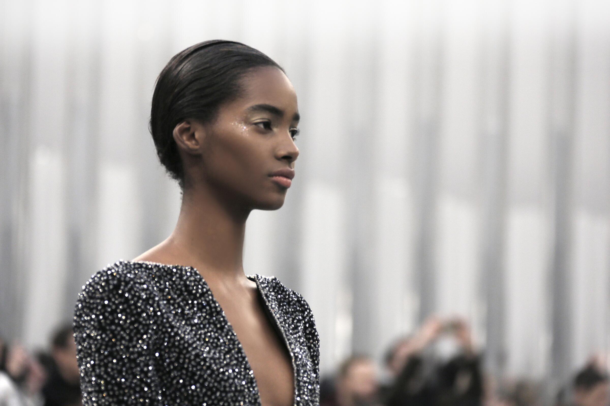 Chanel Haute Couture Paris Fashion Week Model Detail