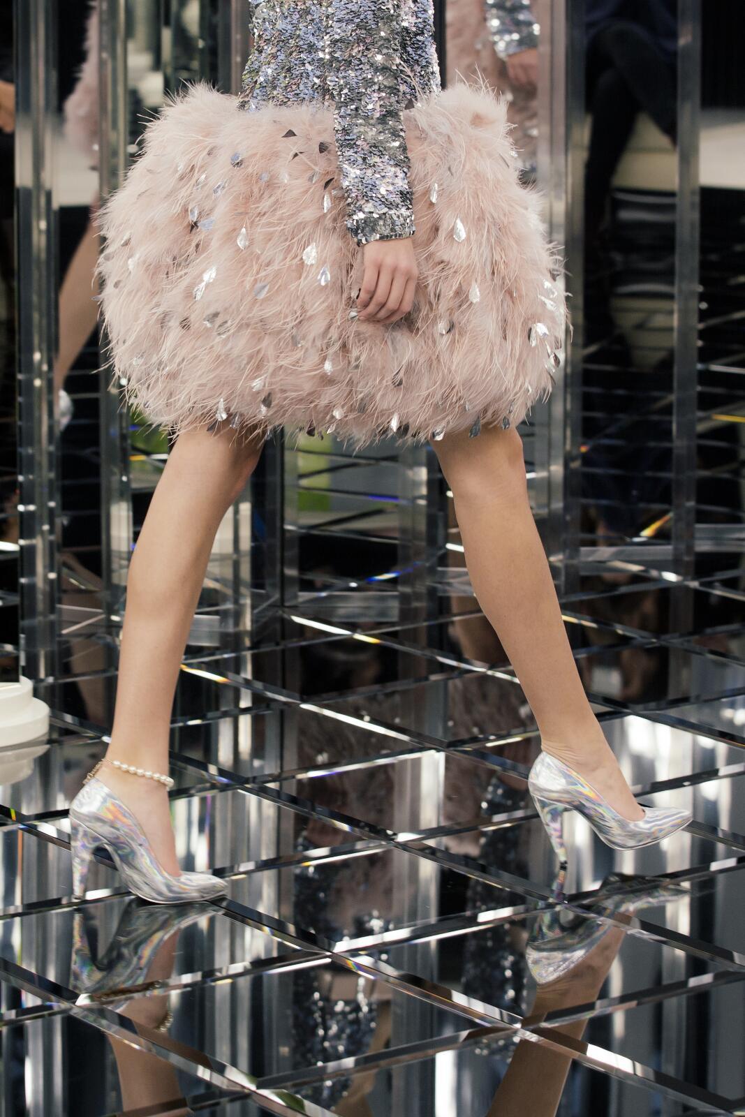 Chanel Haute Couture Woman Catwalk Shoes