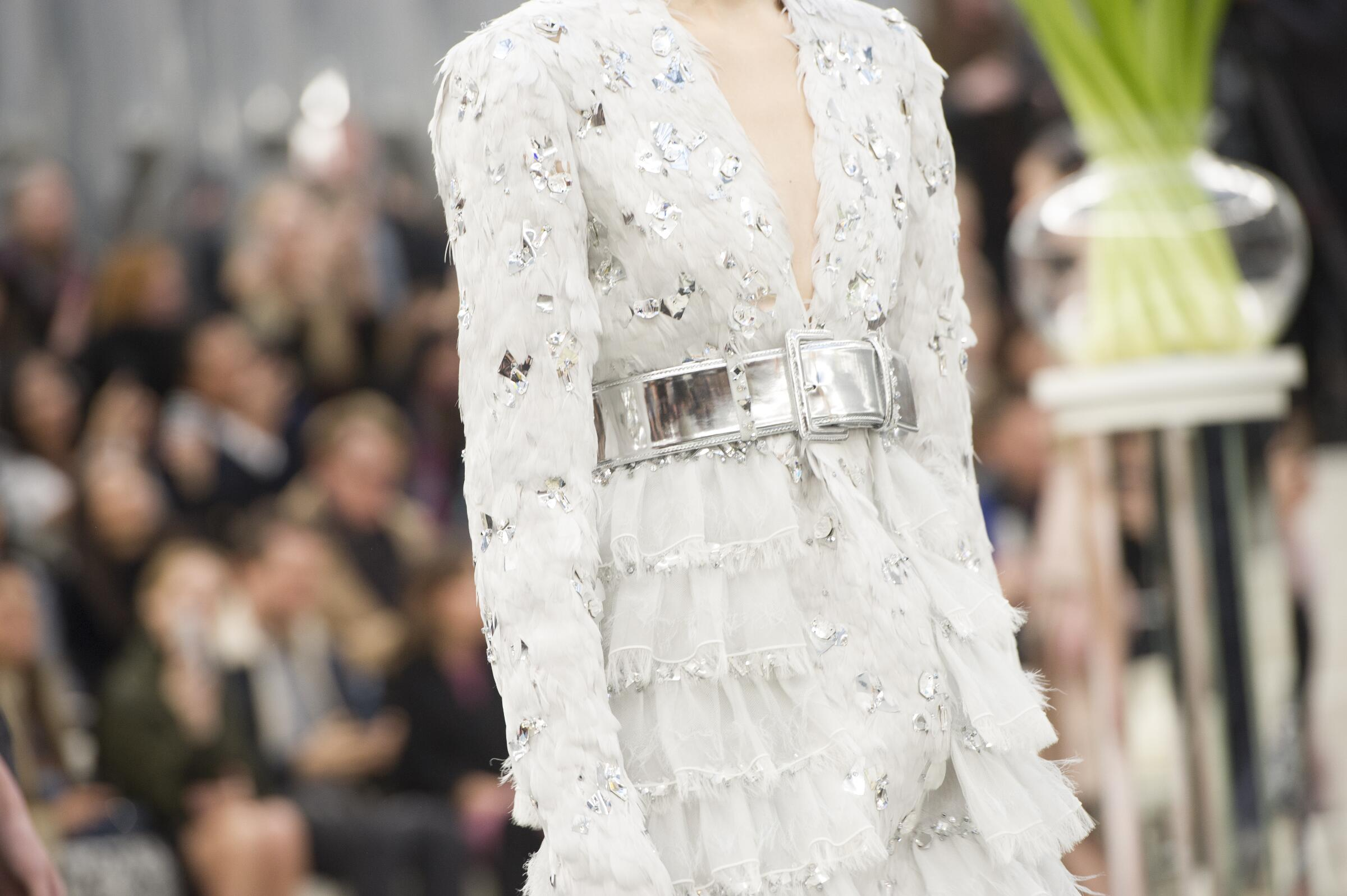 Chanel Haute Couture Woman Spring 2018 Catwalk Detail