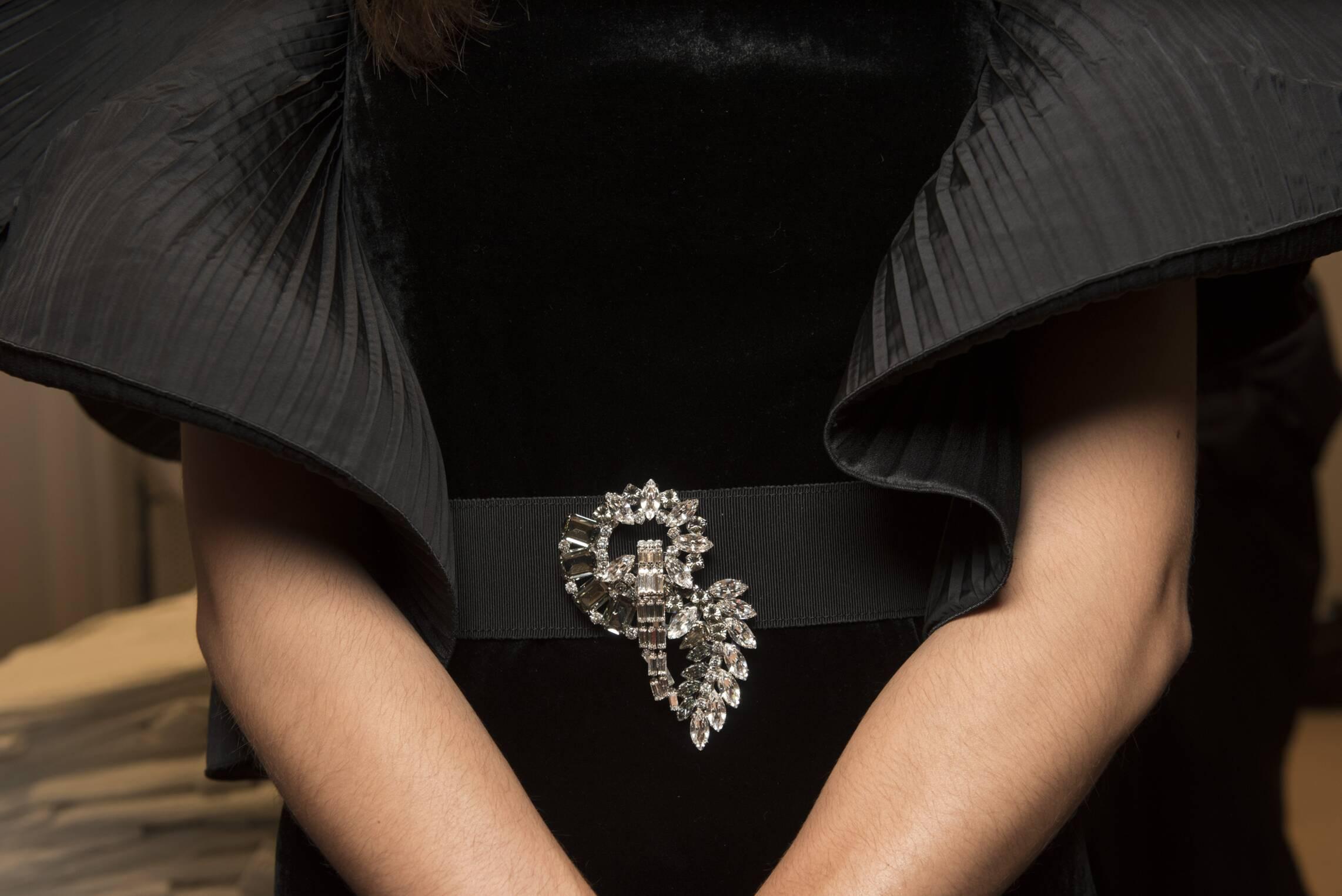 Detail Fall 2017 Womenswear Backstage Alberta Ferretti