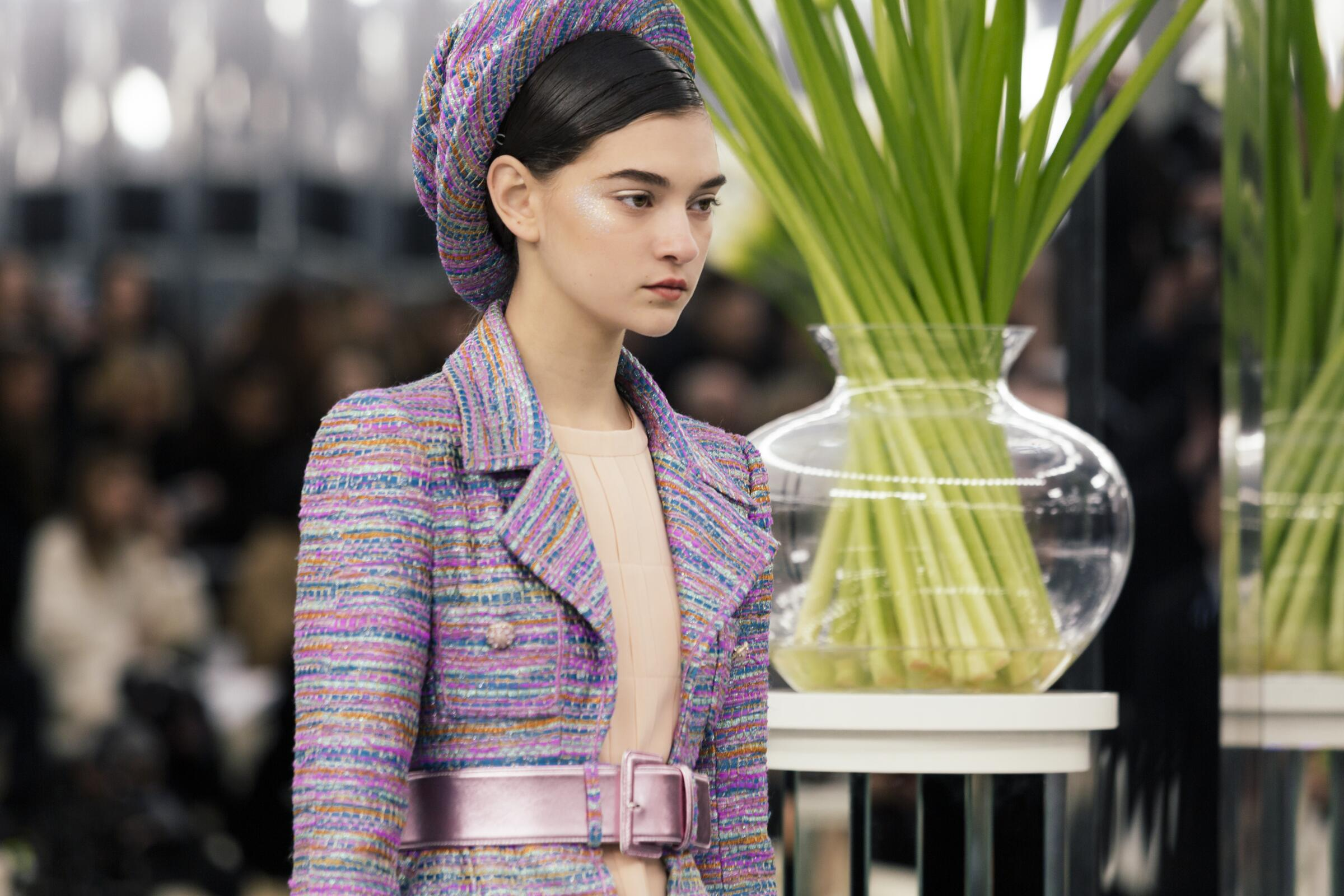 Detail Woman Model Fashion Show Chanel Haute Couture