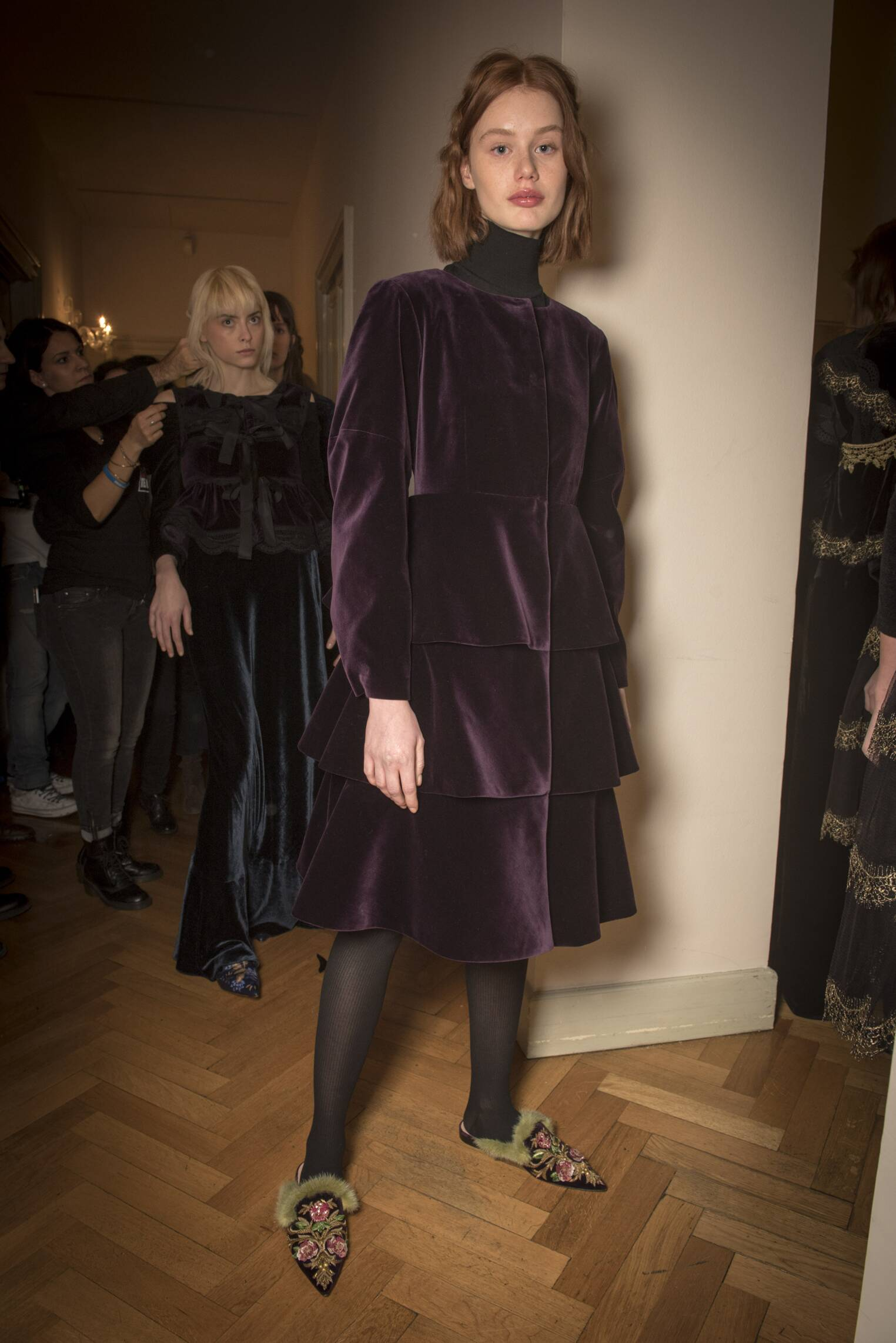 FW 2017-2018 Backstage Alberta Ferretti Fashion Show Milan