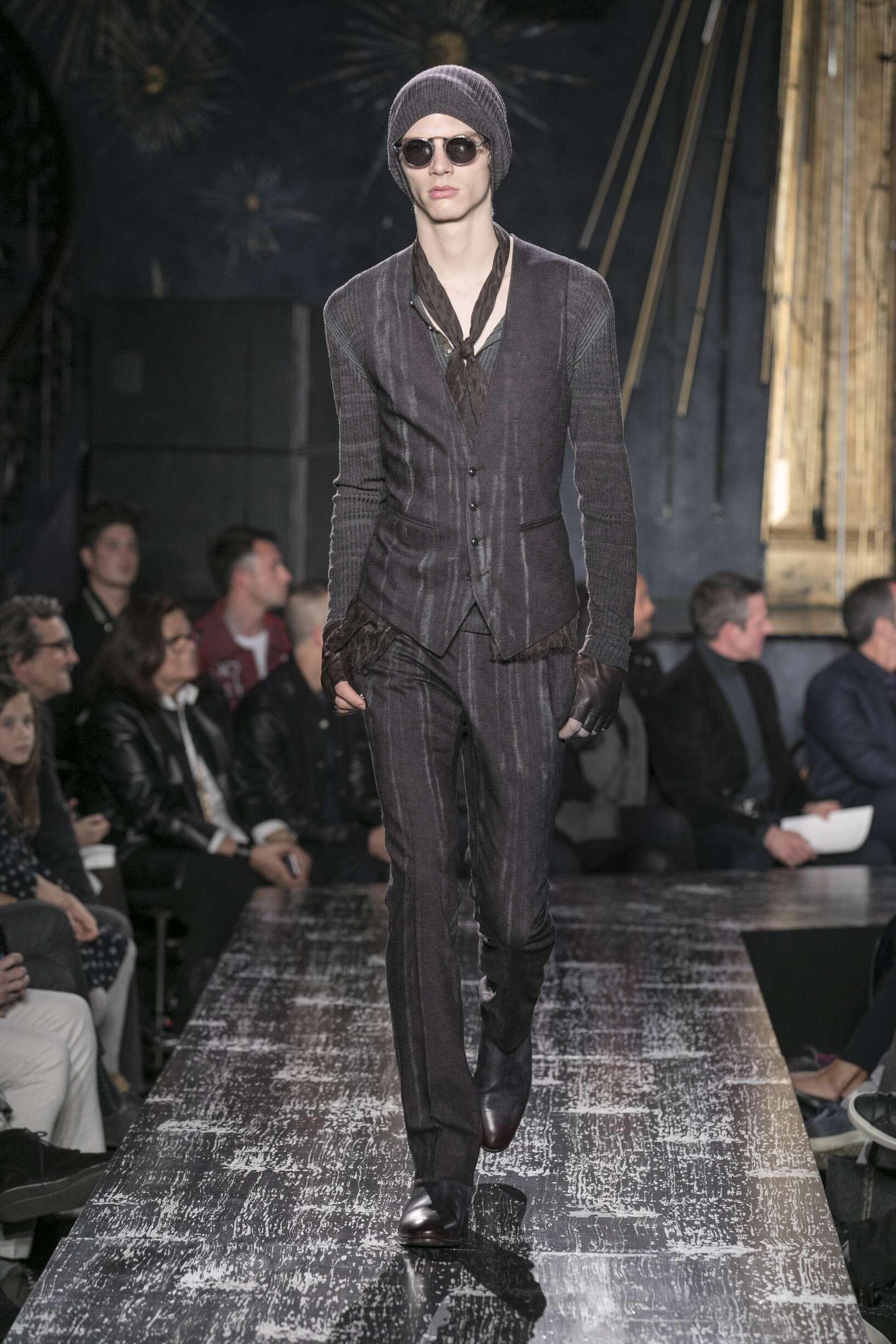Fashion Man Model John Varvatos Catwalk