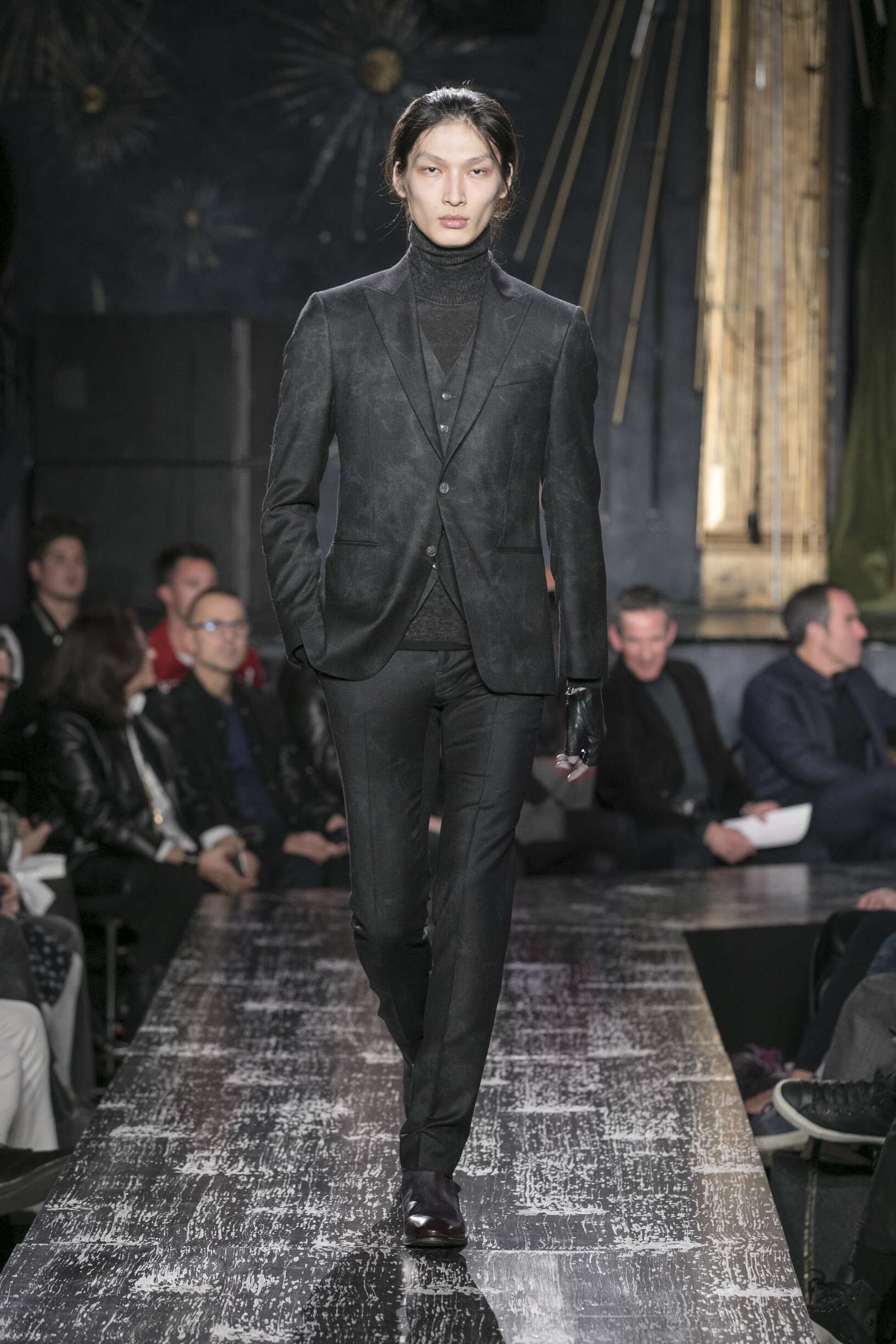 Fashion Model John Varvatos Catwalk