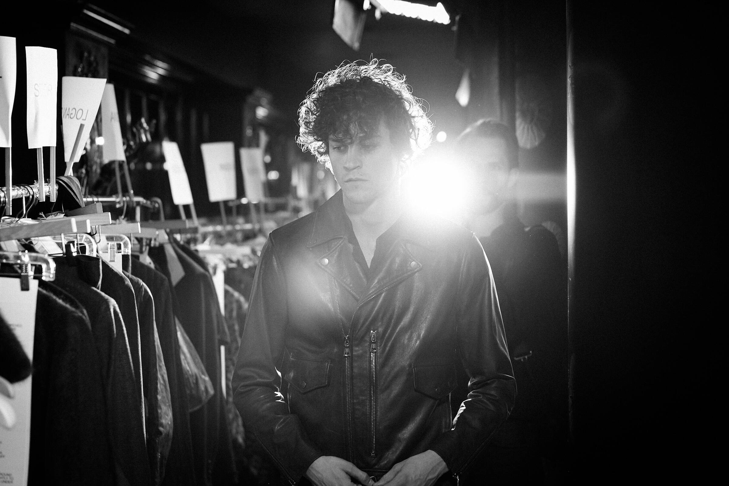 Fashion Model John Varvatos Menswear Backstage