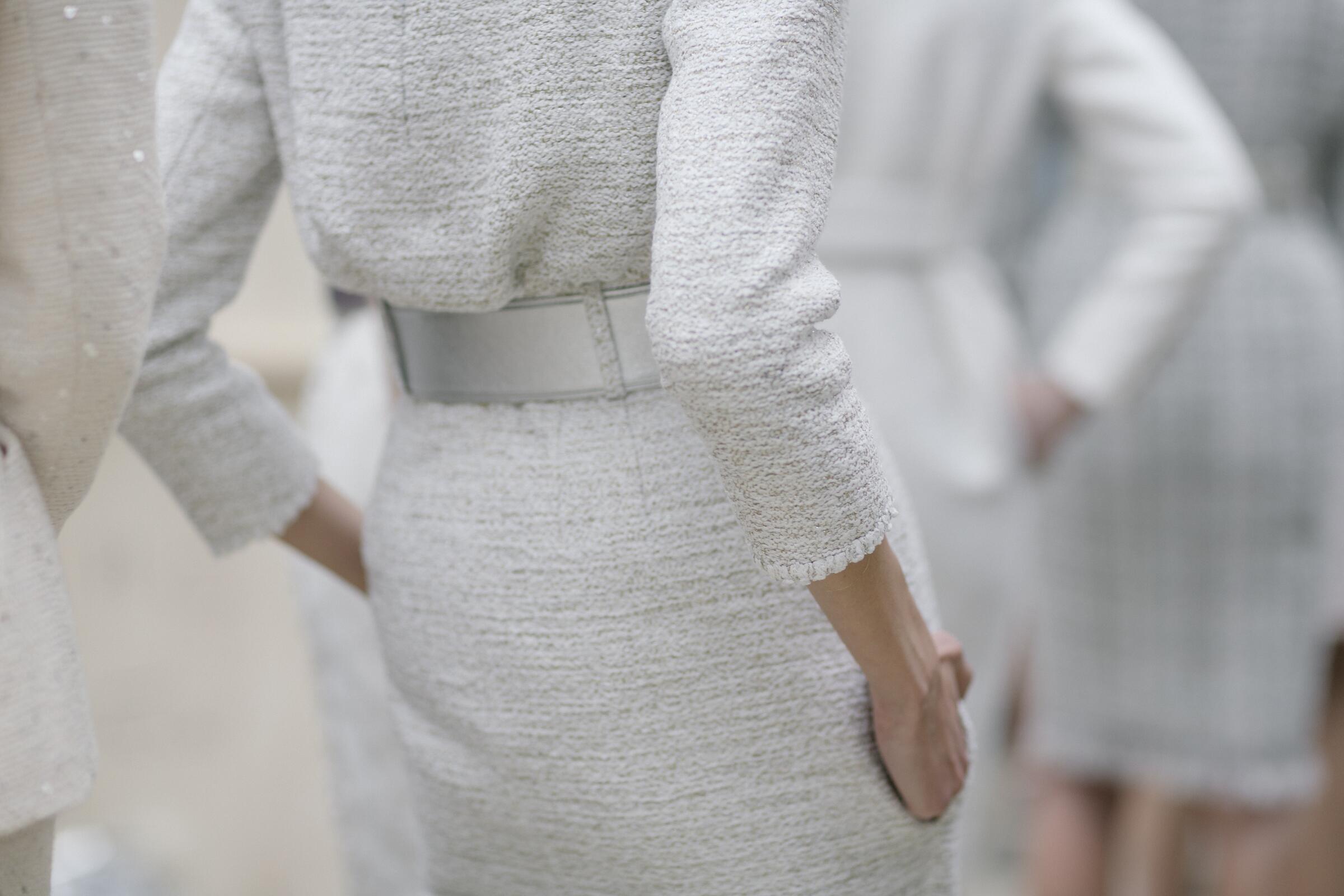Fashion Woman Model Chanel Haute Couture Detail