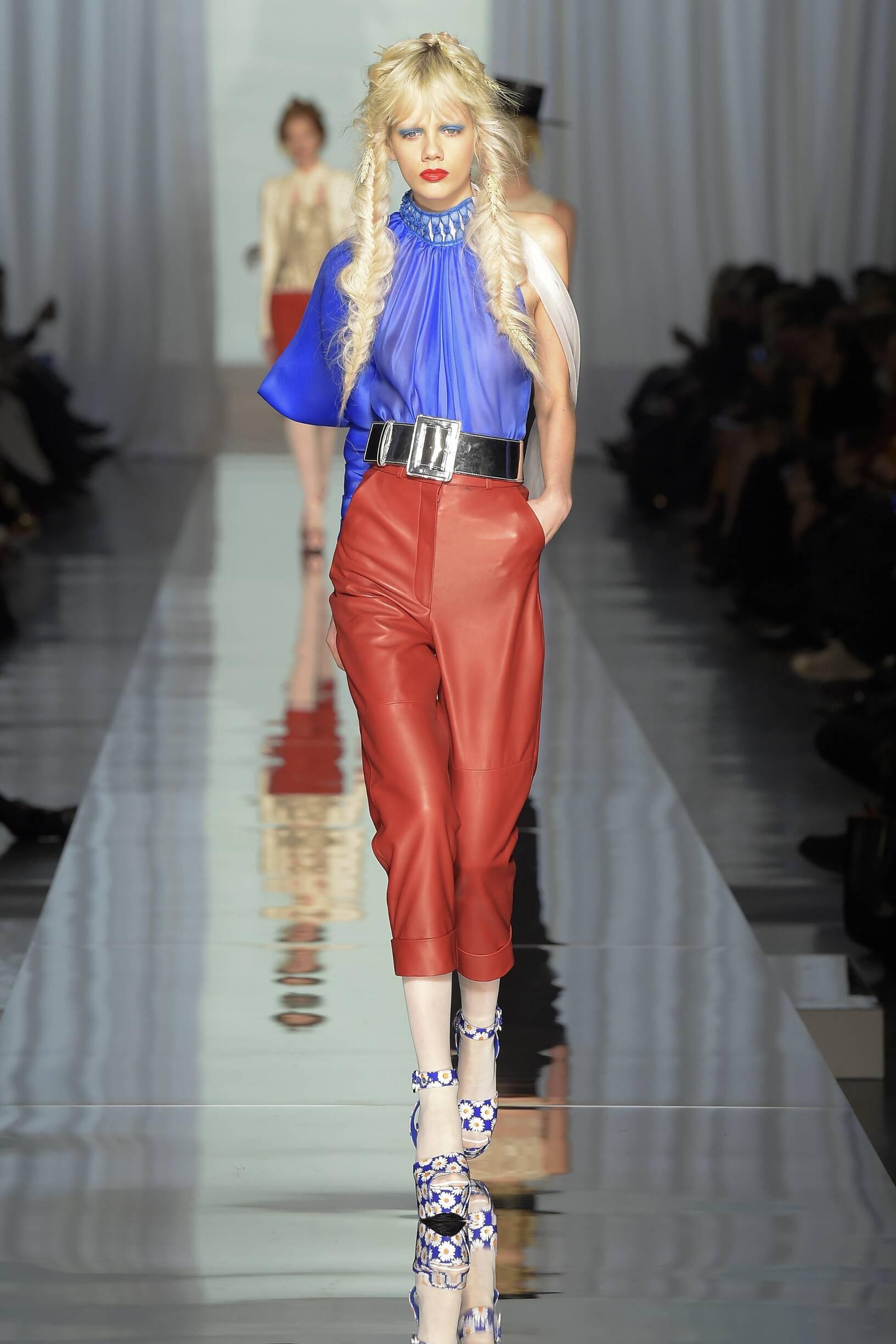 Fashion Woman Model Jean Paul Gaultier Haute Couture Catwalk