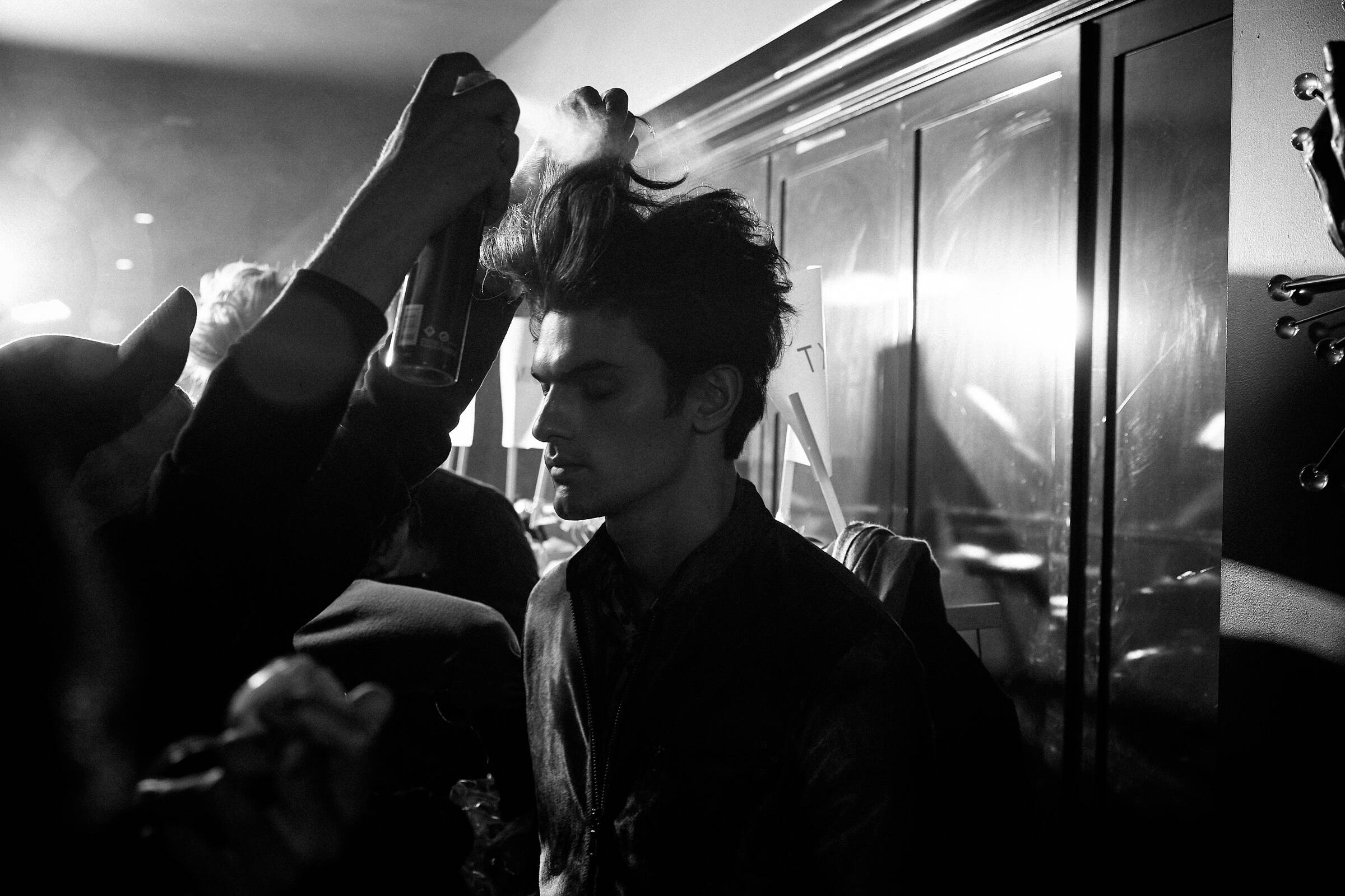 Hair Stylist Model John Varvatos Backstage FW 2017