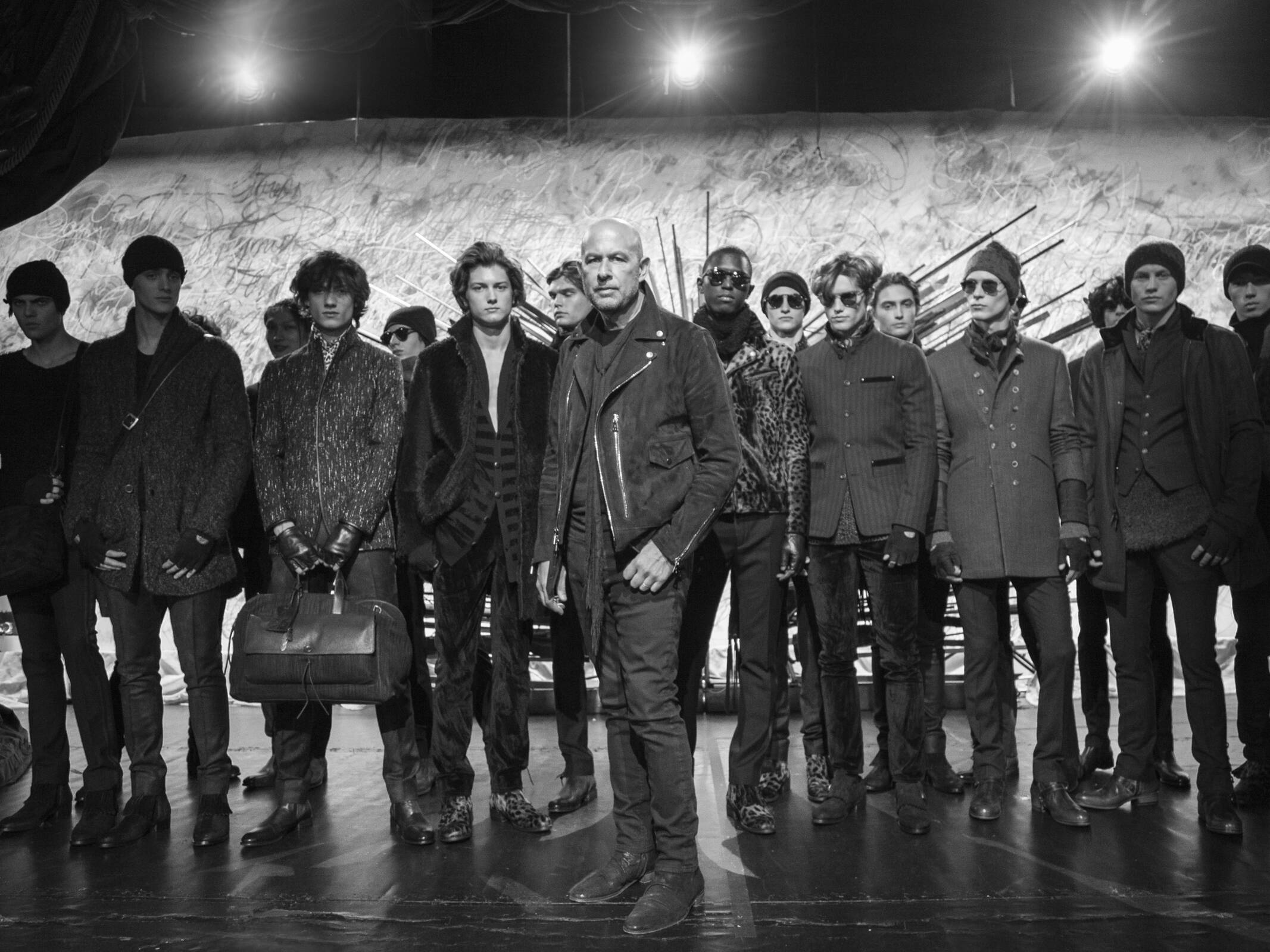 John Varvatos and Models Backstage