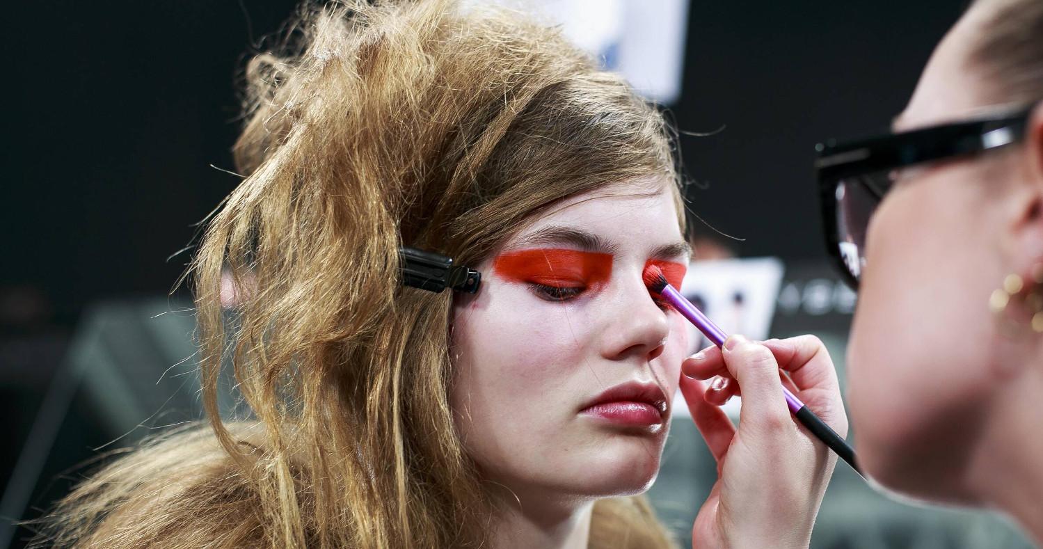 Make Up Model Versus Versace Backstage London