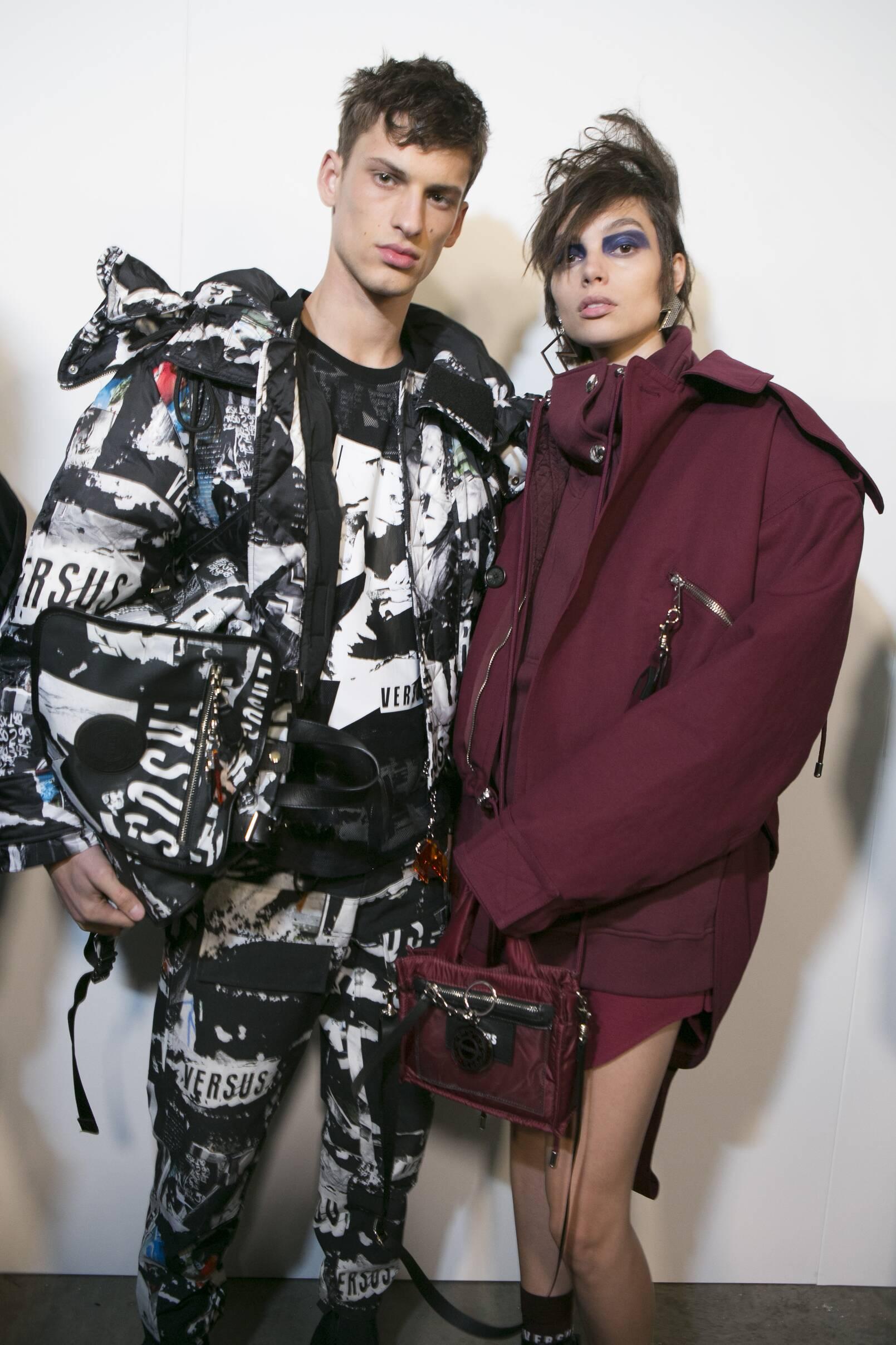 Models Backstage Versus Versace FW 2017