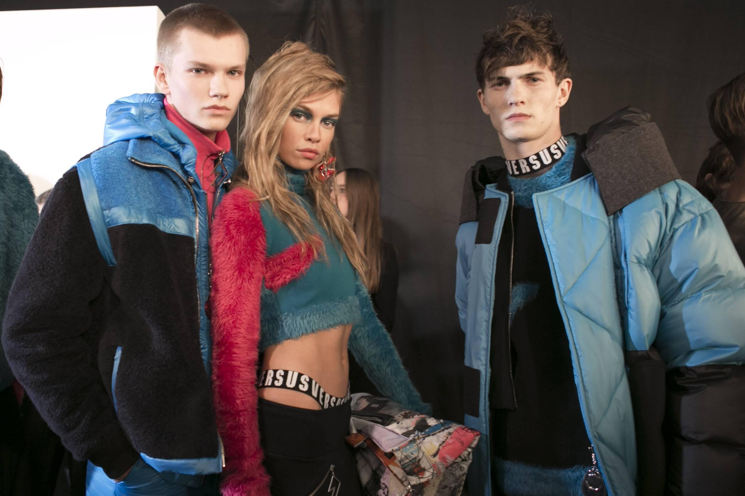 Models Versus Versace Backstage London