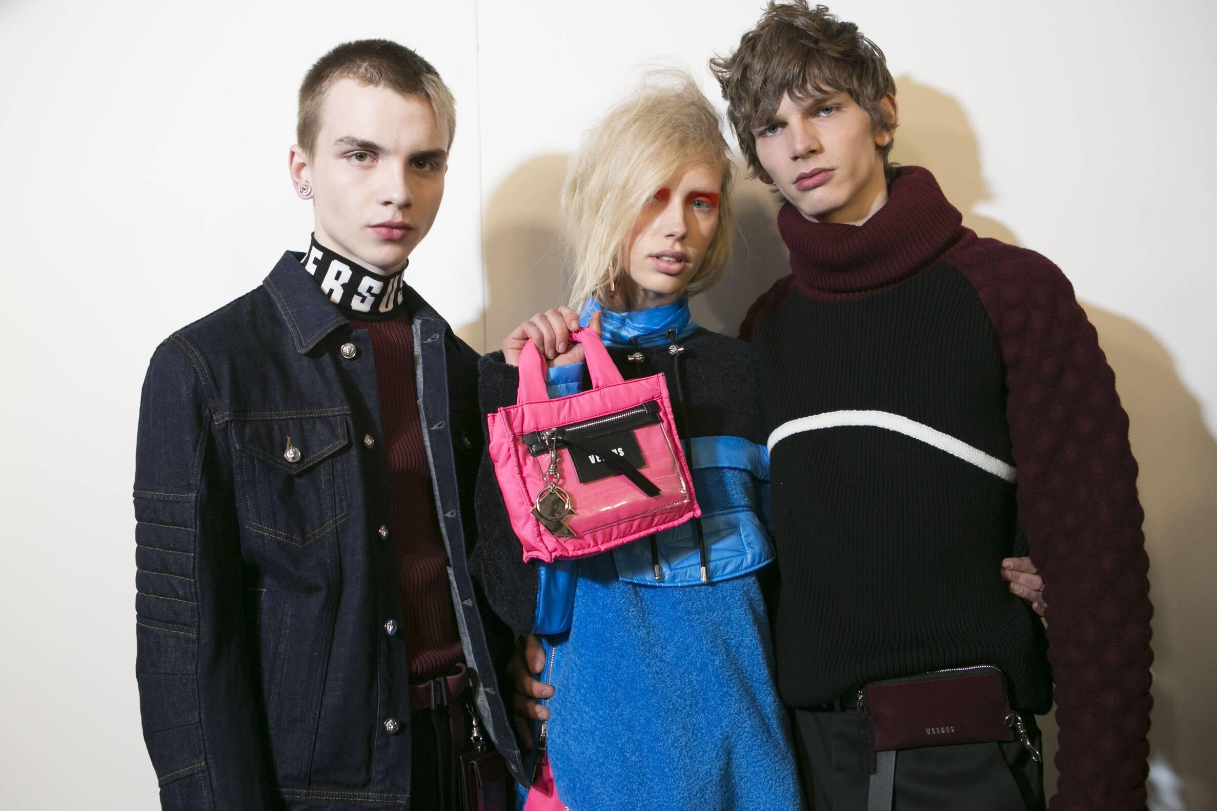 Models Versus Versace Backstage