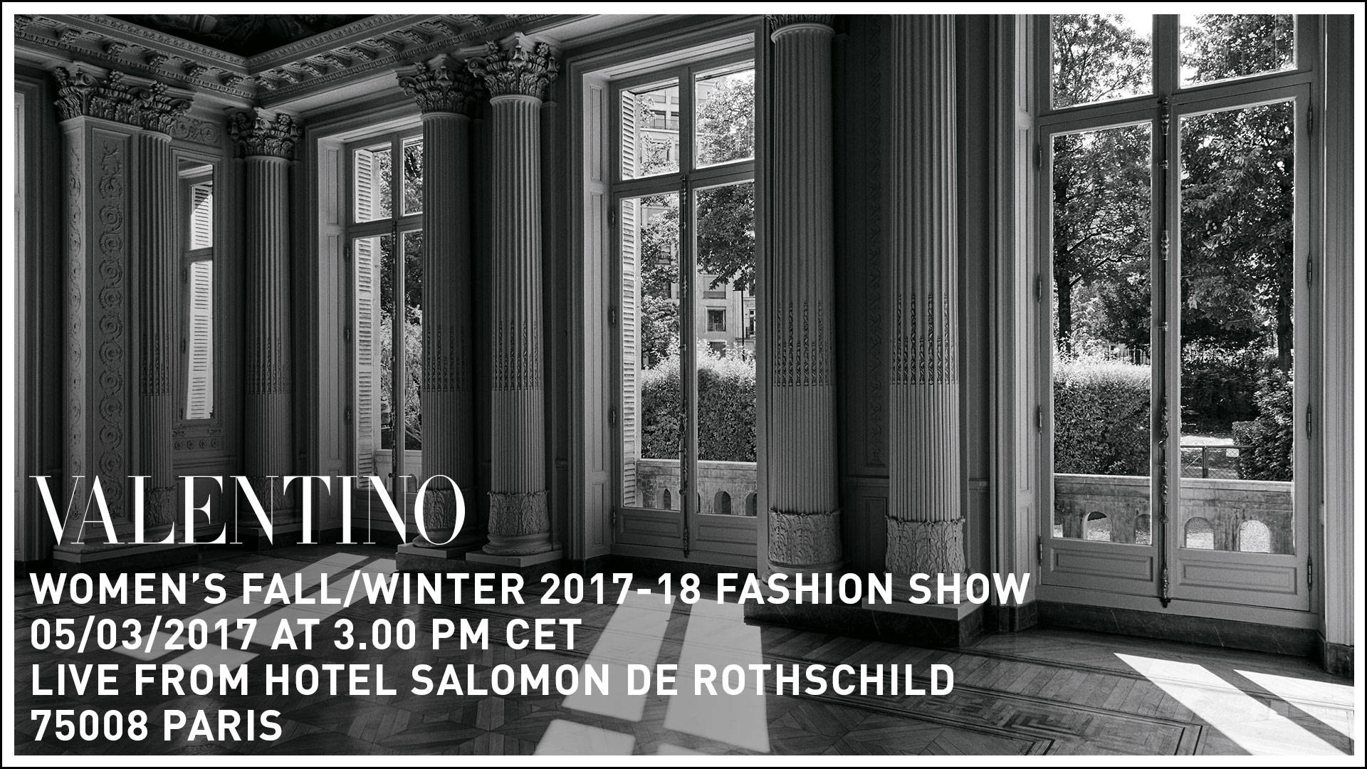 Valentino Fall Winter 2017-18 Women's Fashion Show Live Streaming Paris