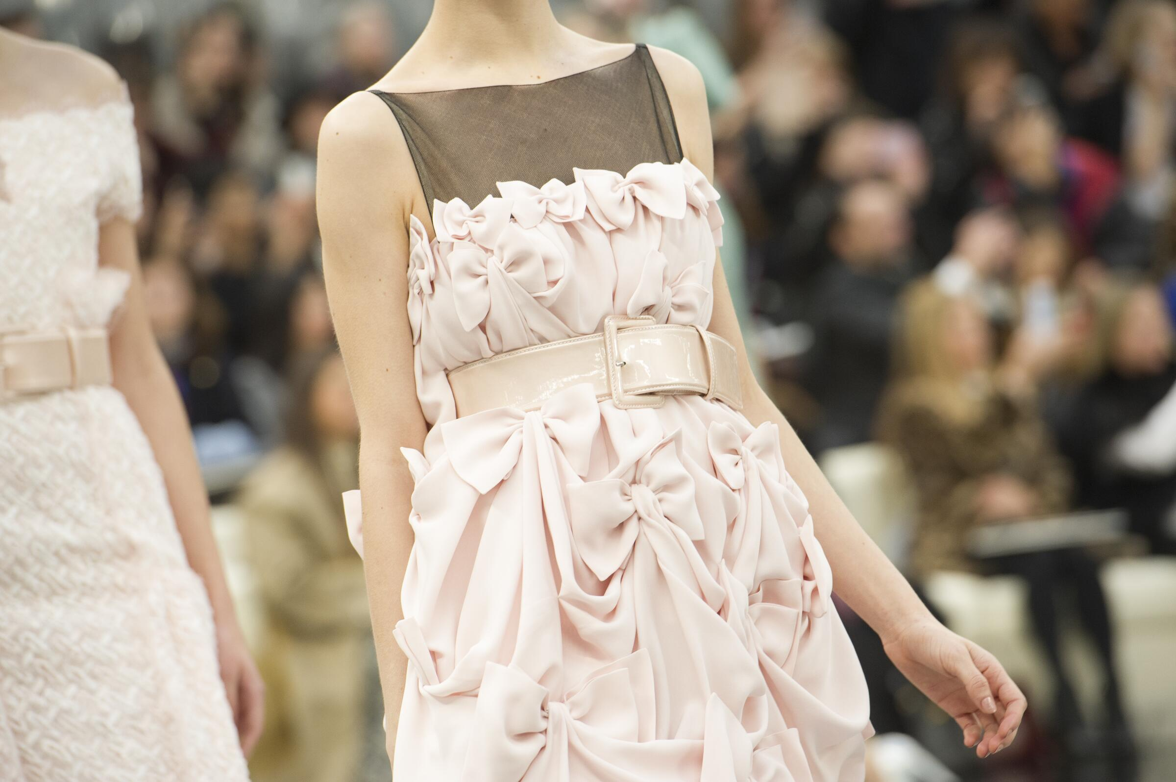 Woman Dress Chanel Haute Couture Summer 2017