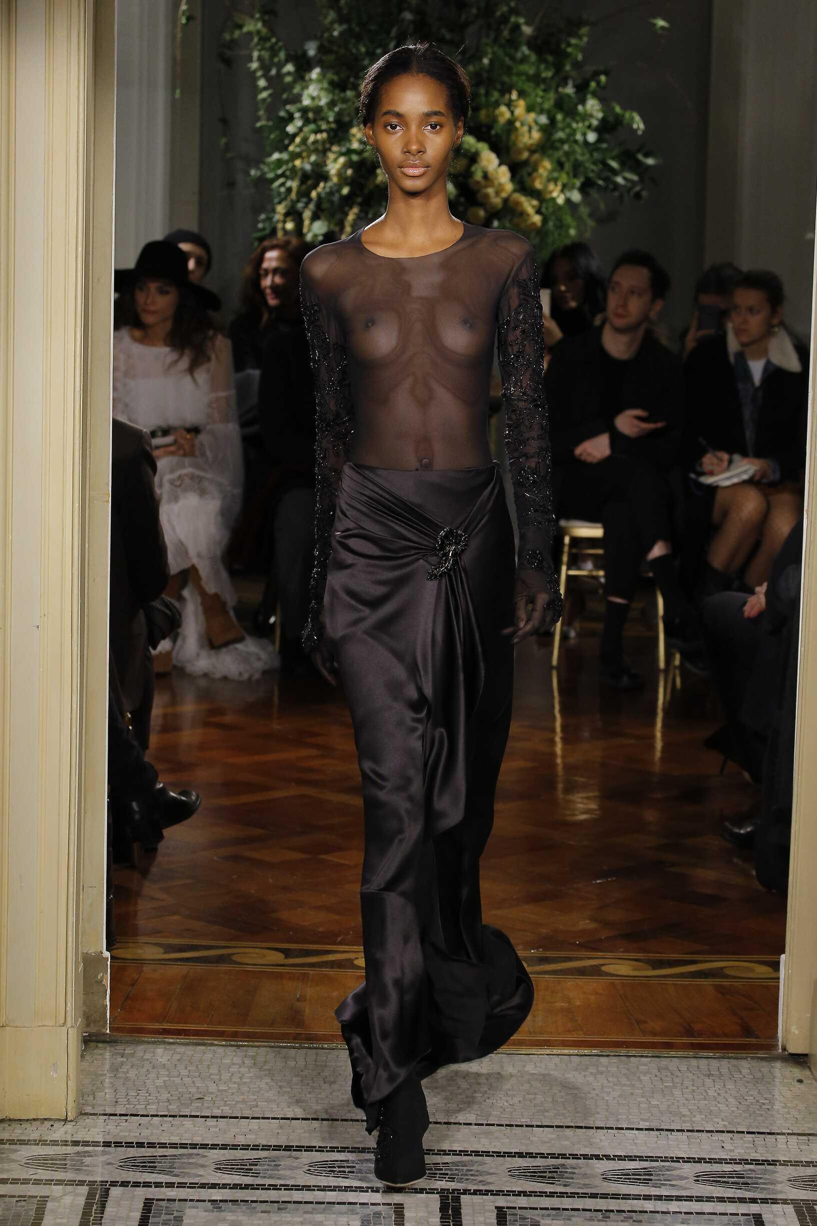 Woman Model Fashion Show Alberta Ferretti Limited Edition