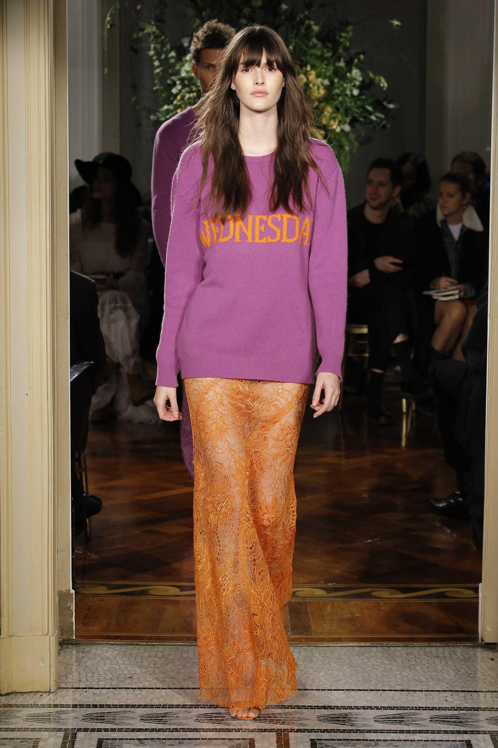Woman Model Fashion Show Alberta Ferretti Rainbow Collection