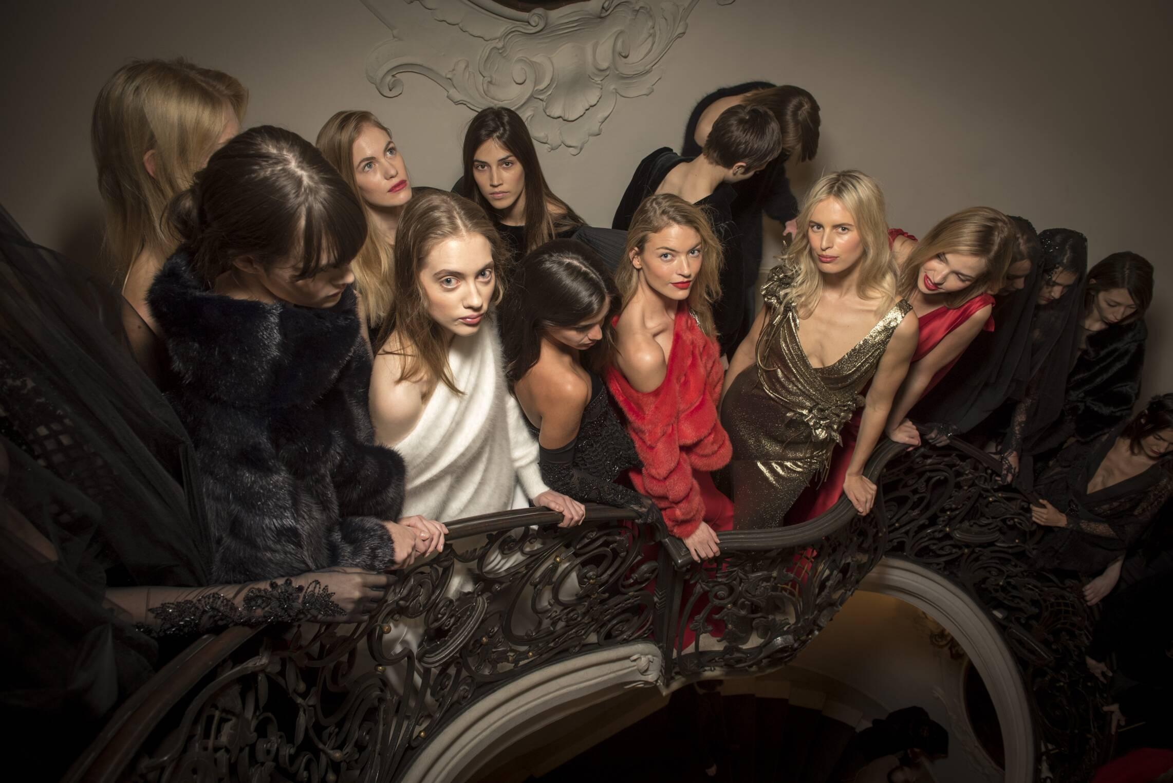Womens Palazzo Donizzetti Backstage Alberta Ferretti Fashion Show Milan