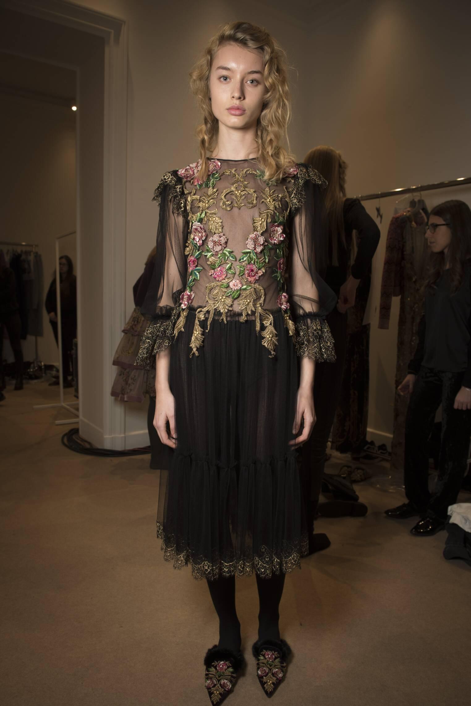 Womenswear Rainbow Collection Backstage Alberta Ferretti 2017