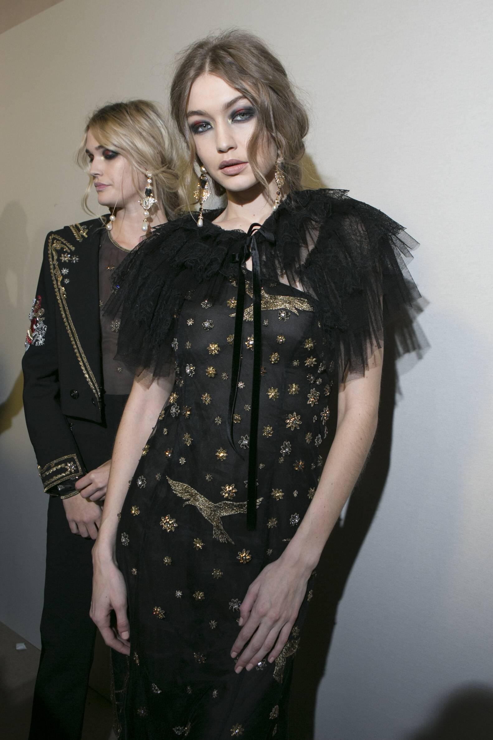 2017 Backstage Alberta Ferretti Fall Gigi Hadid