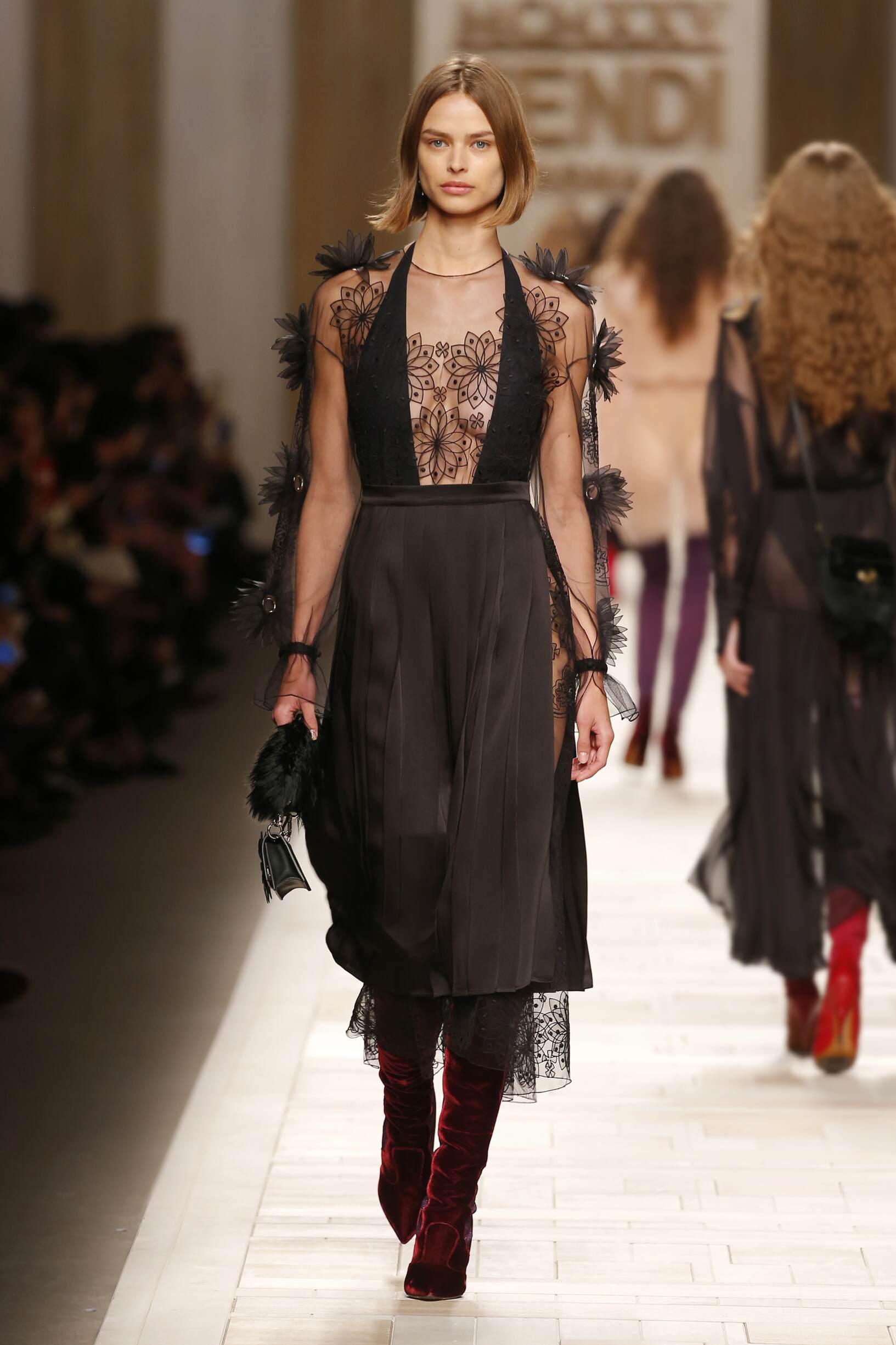 2017 Catwalk Fendi Woman Fashion Show Winter