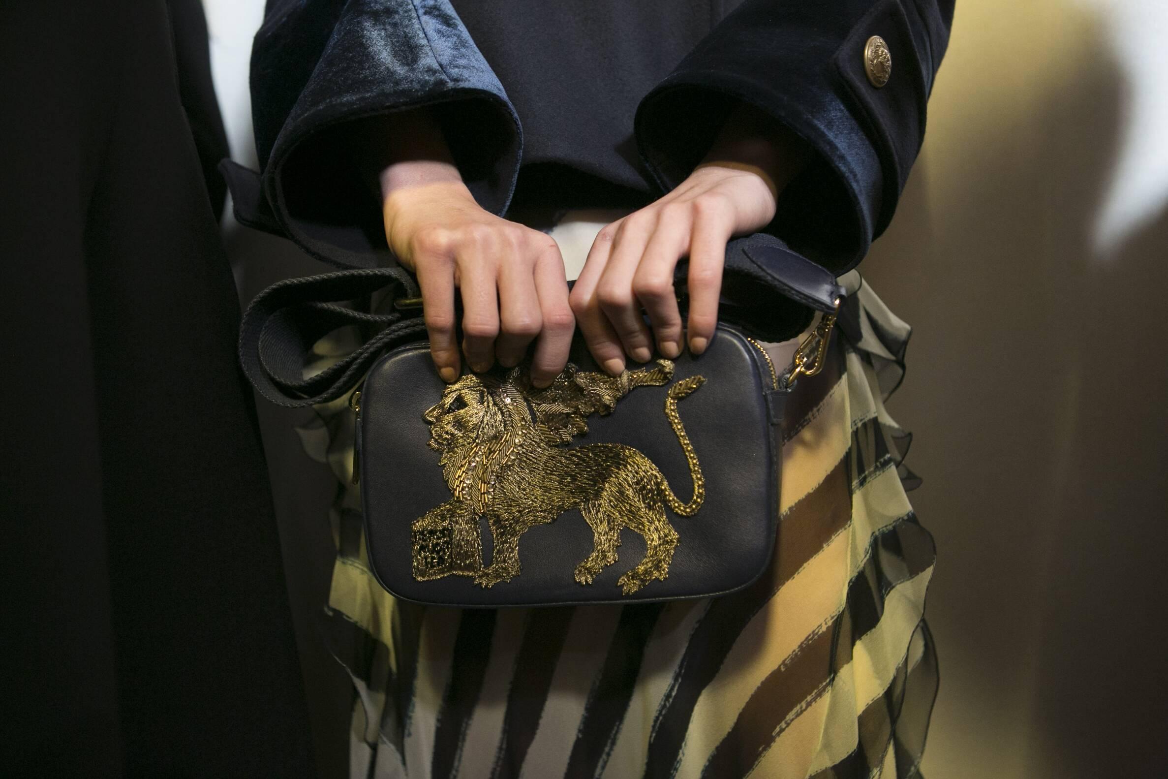 Backstage Alberta Ferretti Bag Detail 2017 Fall Winter 2017 Collection