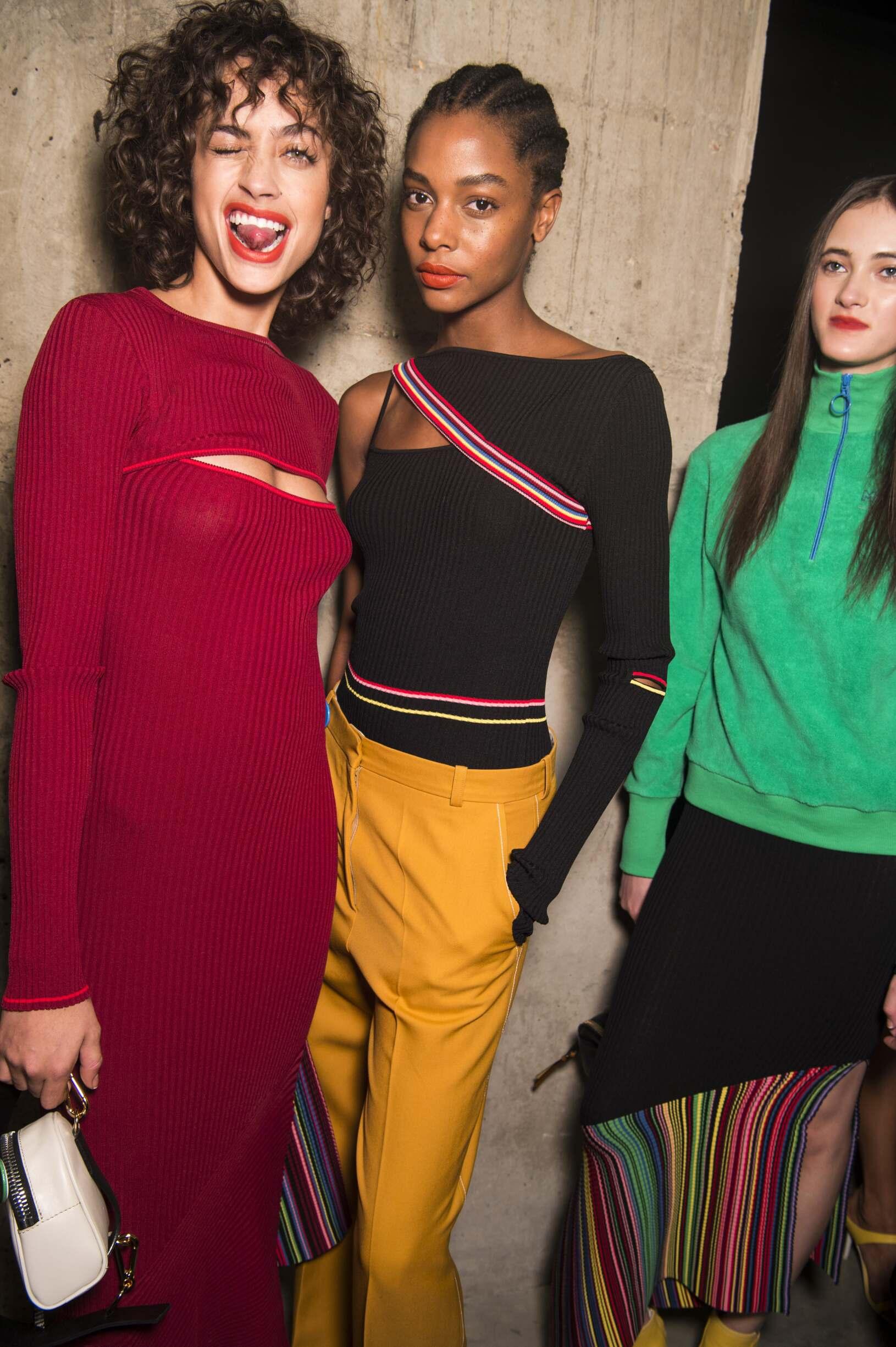 Backstage Topshop Unique Fashion Show Models