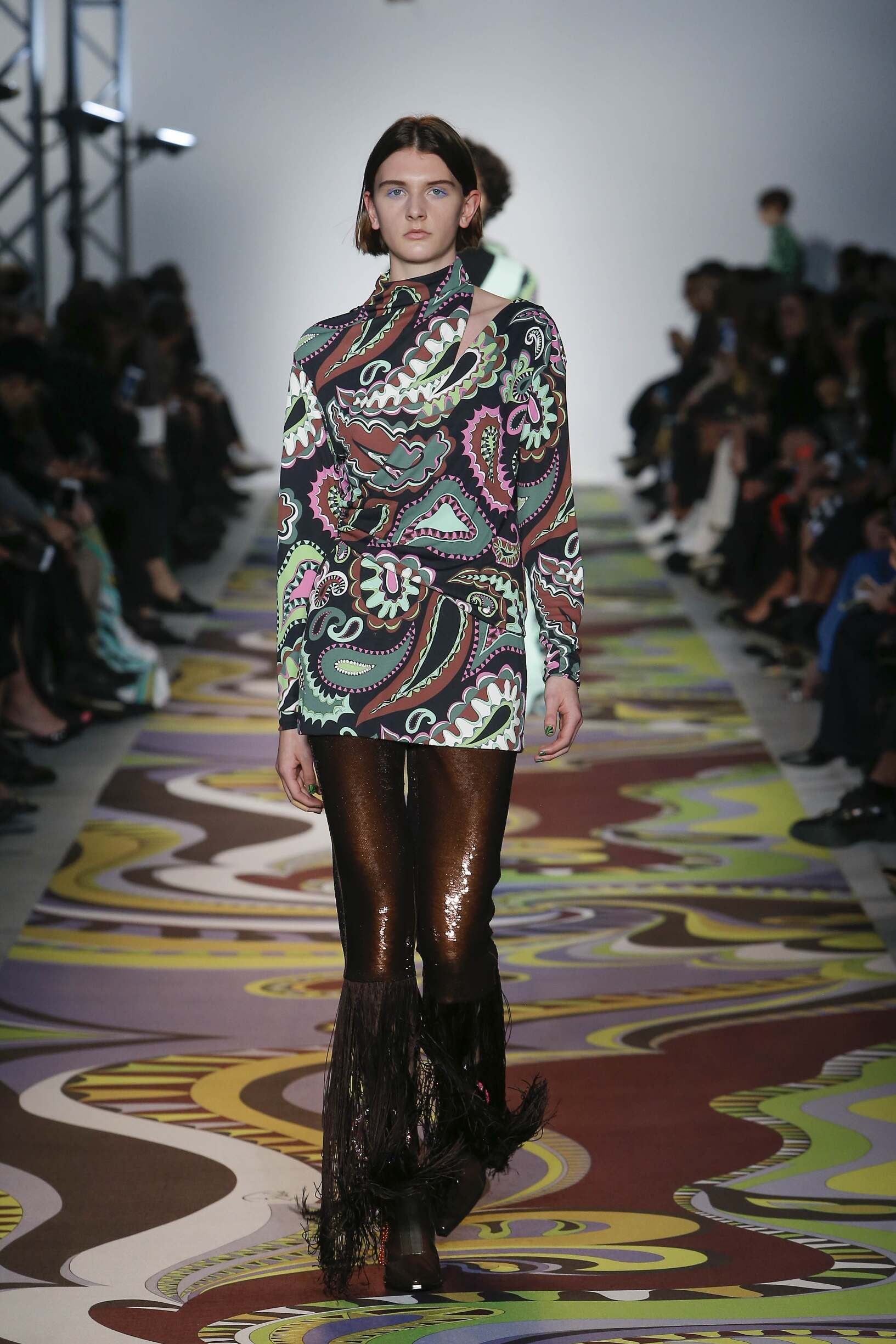 Catwalk Emilio Pucci Woman Fashion Show Winter 2017